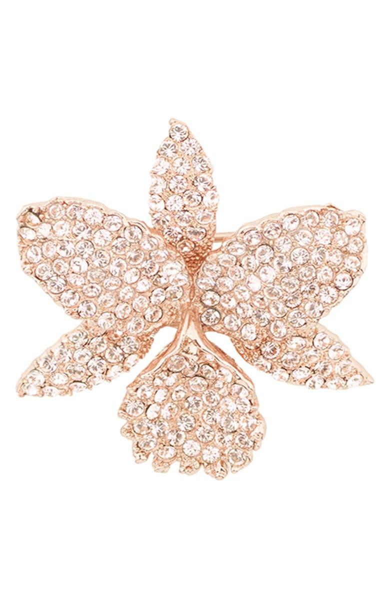 Orchid Swarovski Crystal Pin