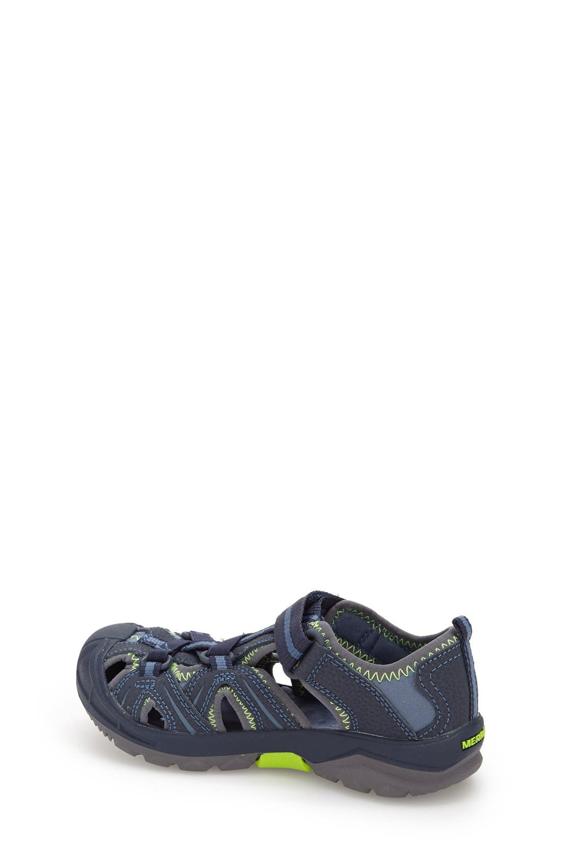 MERRELL, Hydro Water Sandal, Alternate thumbnail 2, color, NAVY/ GREEN