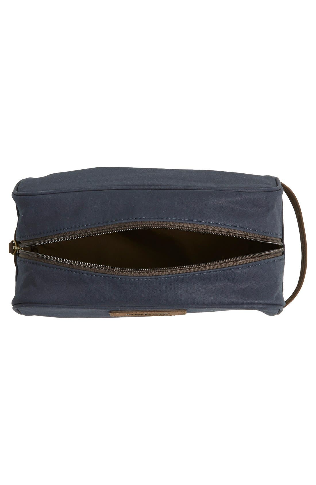BARBOUR, Waxed Canvas Travel Kit, Alternate thumbnail 2, color, 410