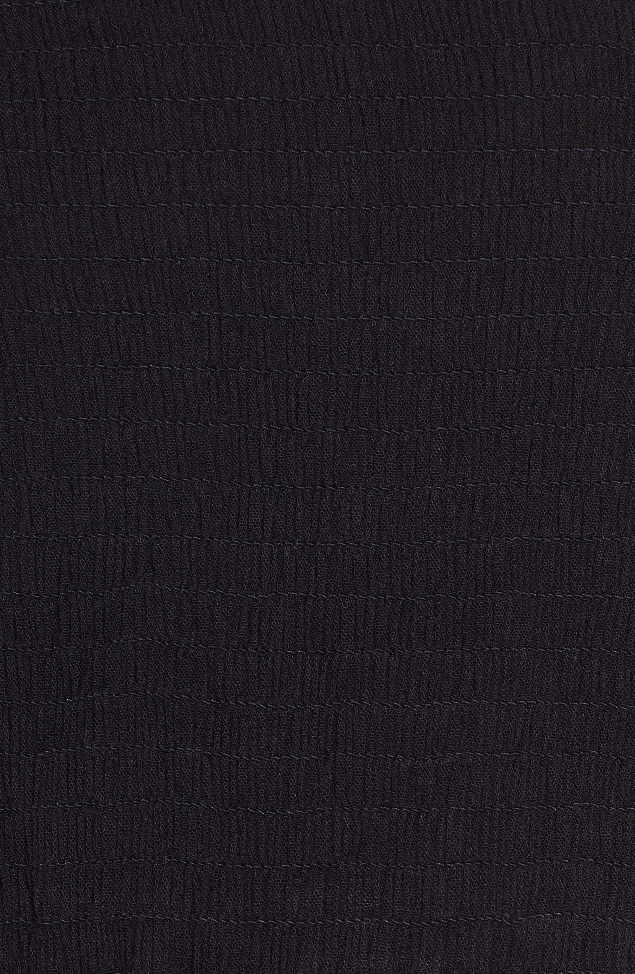 CHELSEA28, Farrah Smocked Cover-Up Maxi Dress, Alternate thumbnail 6, color, BLACK