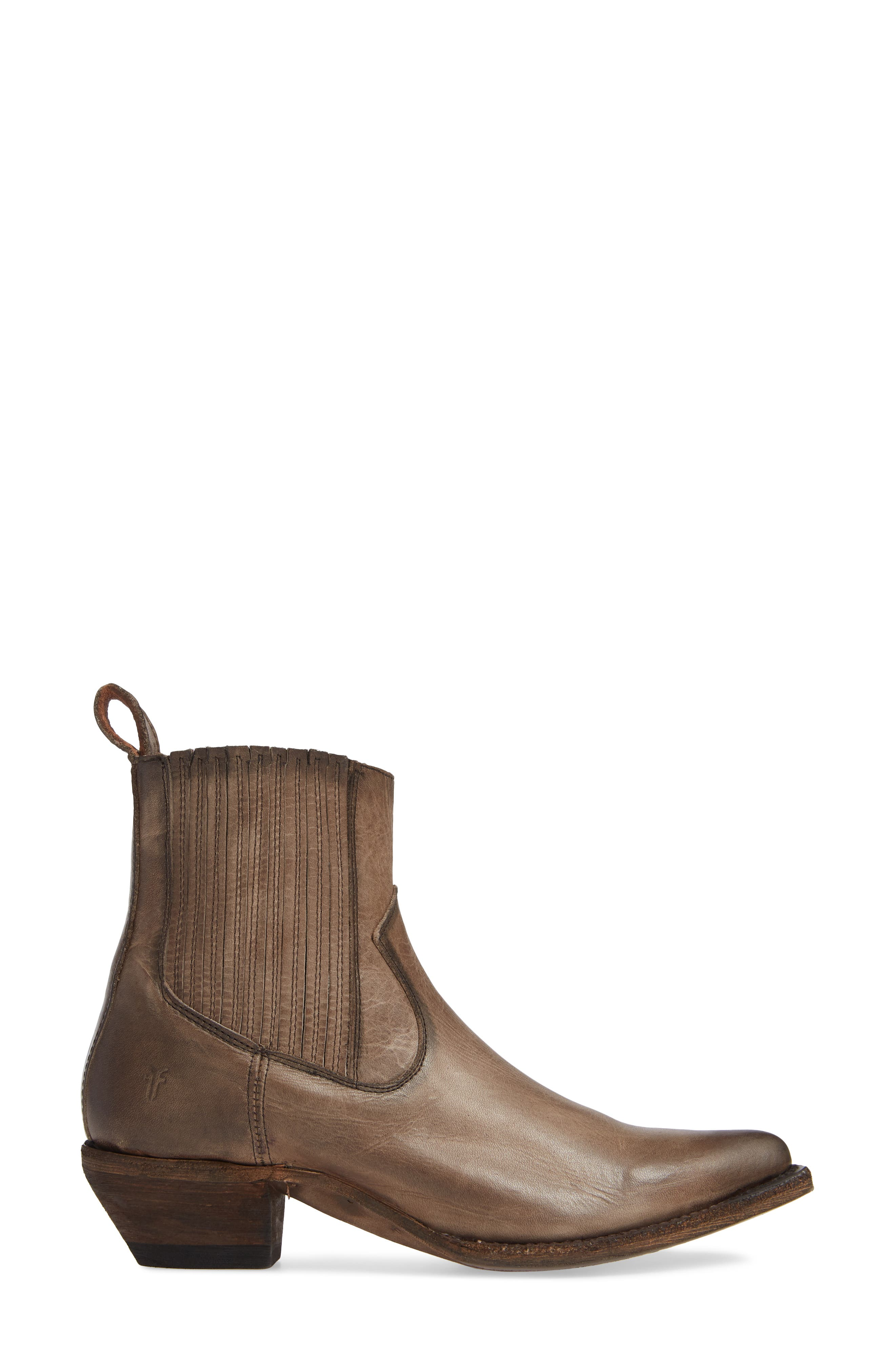 FRYE, Sacha Western Bootie, Alternate thumbnail 3, color, STONE LEATHER
