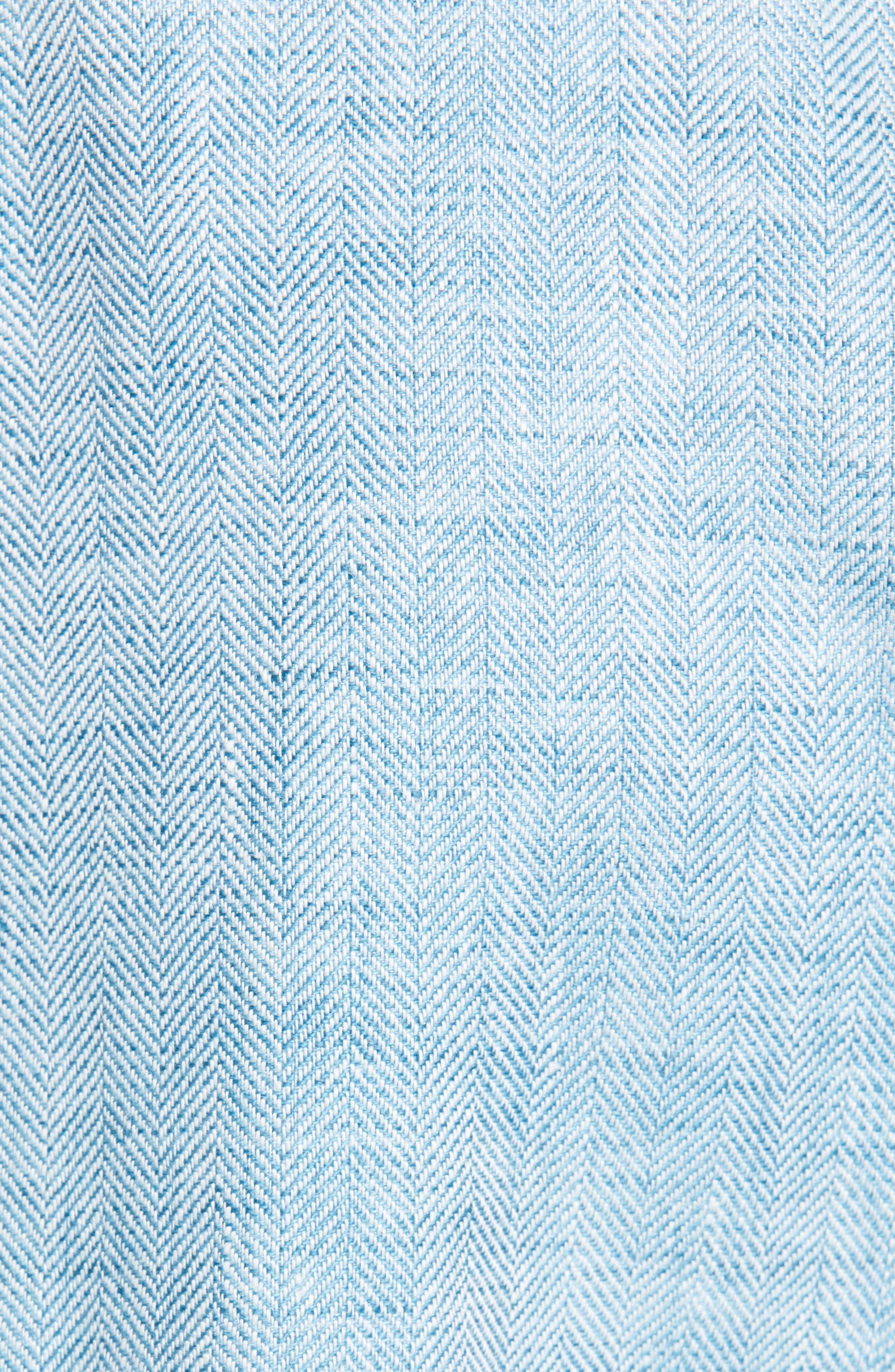LAFAYETTE 148 NEW YORK, Heather Linen Jacket, Alternate thumbnail 7, color, BLUE STEEL MULTI