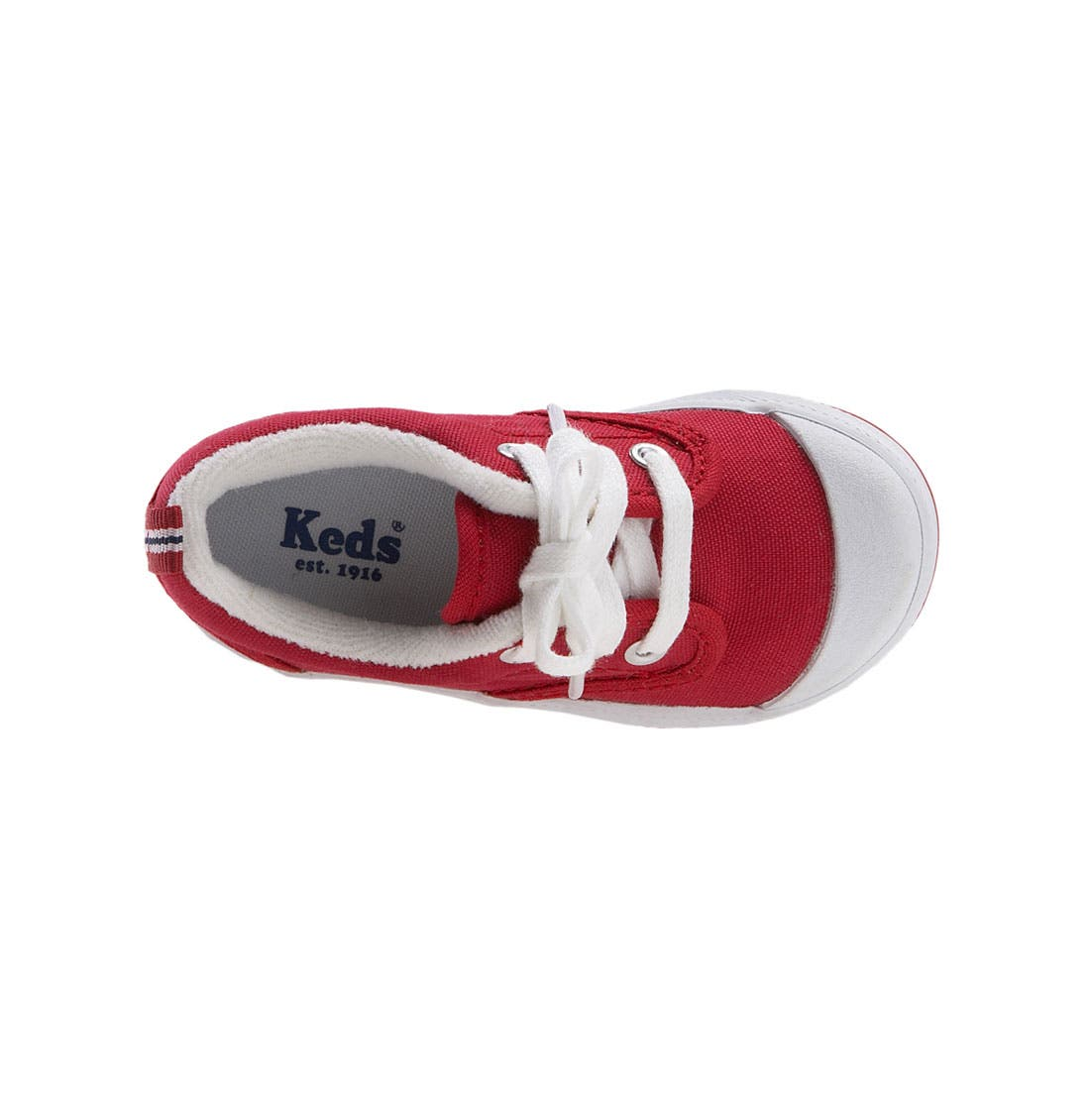 KEDS<SUP>®</SUP>, 'Graham' Lace-Up Sneaker, Alternate thumbnail 4, color, RED CANVAS