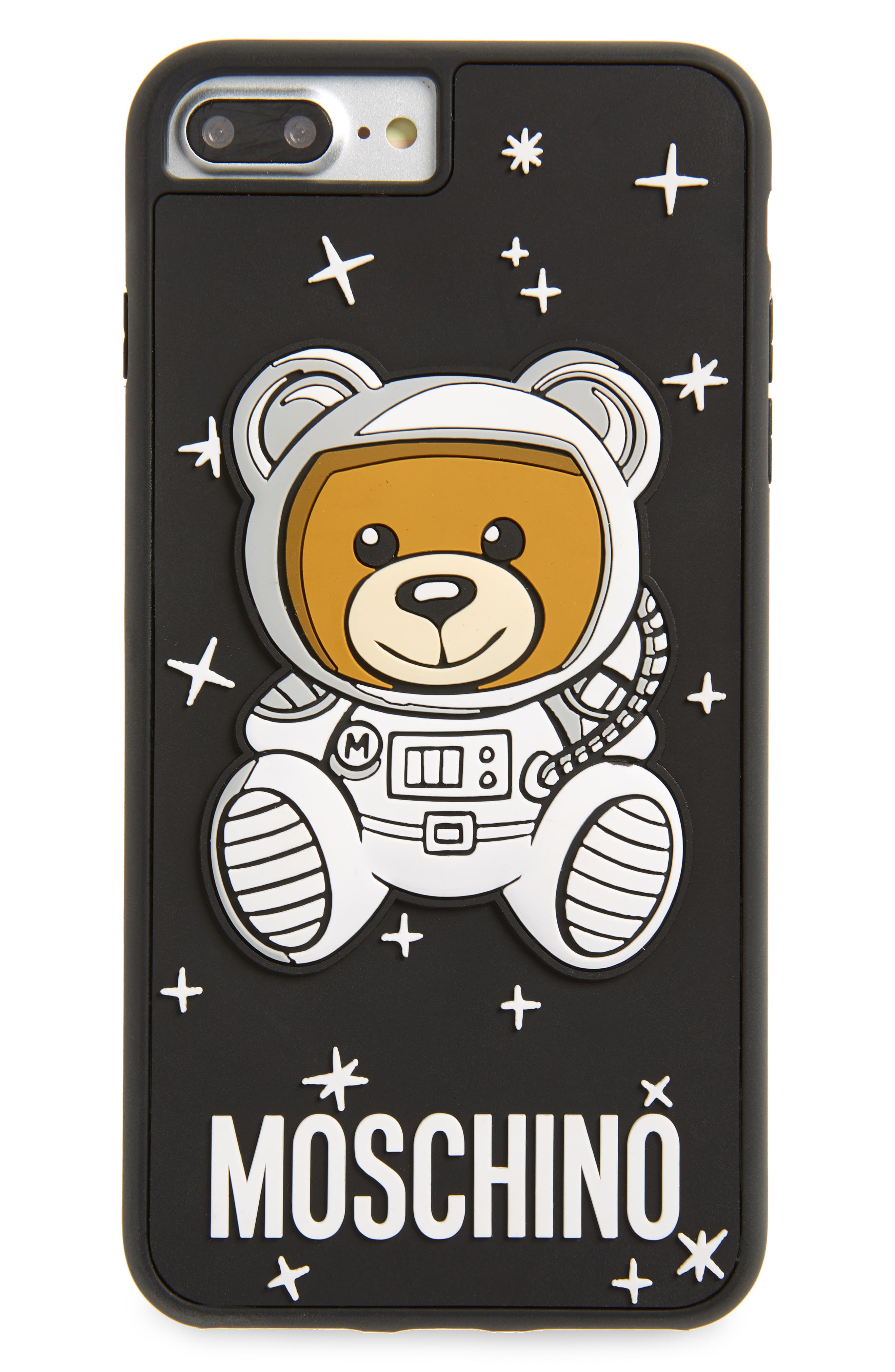 MOSCHINO, UFO Teddy iPhone 6/6s/7/8 Plus Case, Main thumbnail 1, color, 005