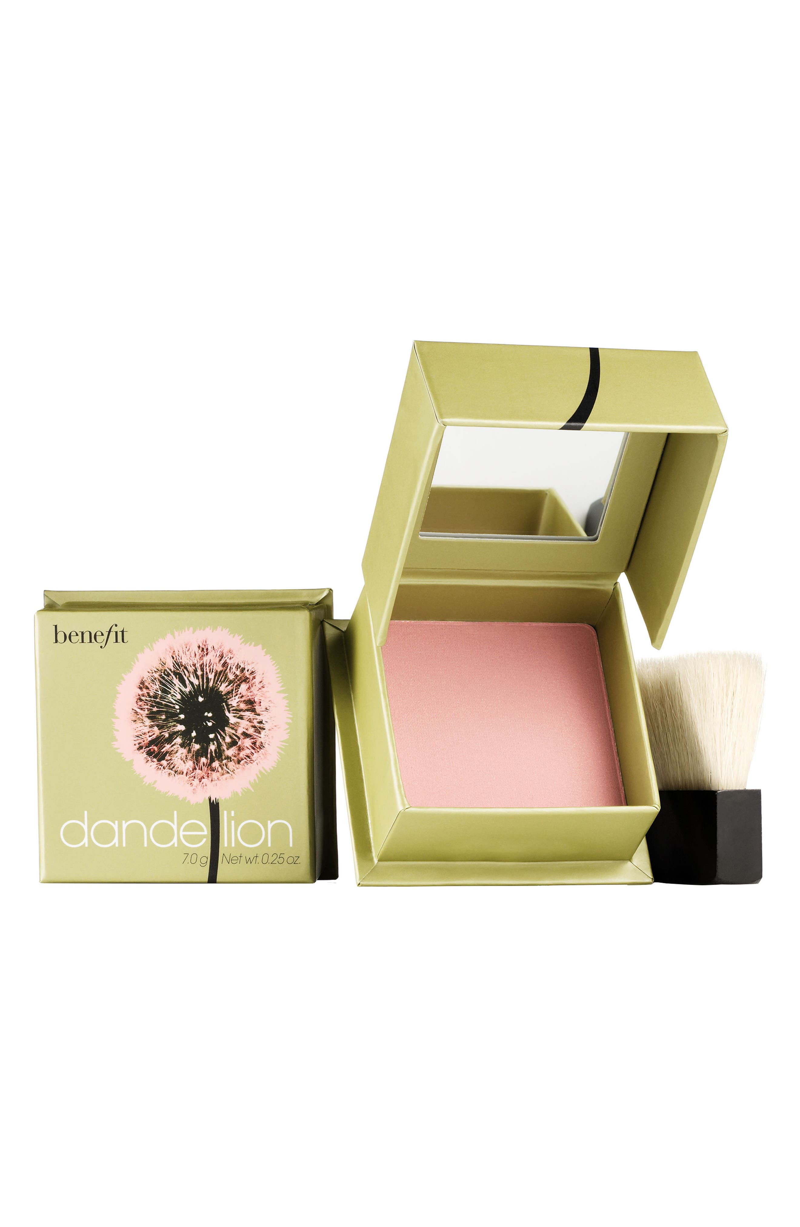 BENEFIT COSMETICS, Benefit Dandelion Brightening Powder Blush, Main thumbnail 1, color, BABY PINK