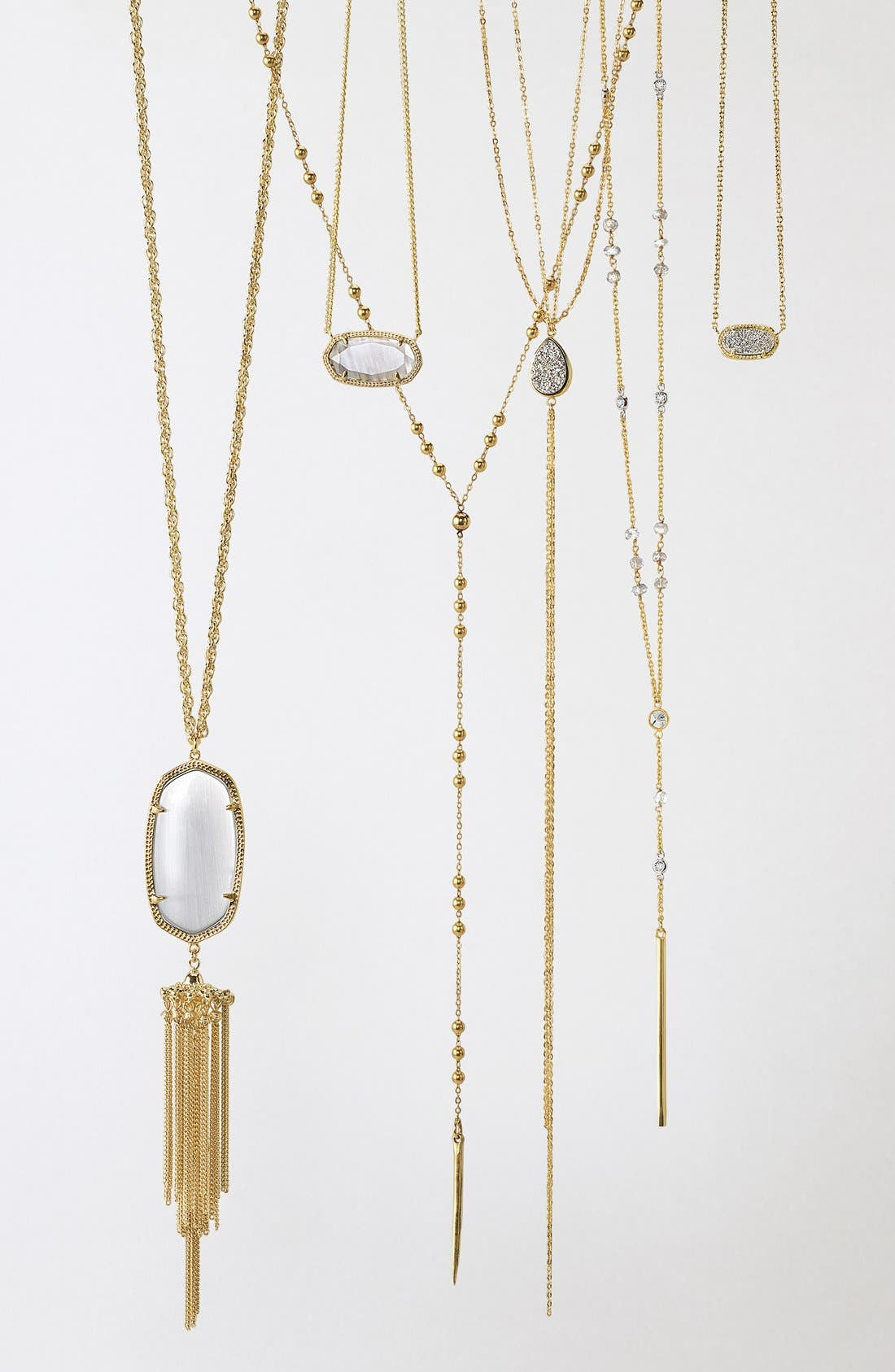 DOGEARED, Long Y-Necklace, Alternate thumbnail 3, color, 040