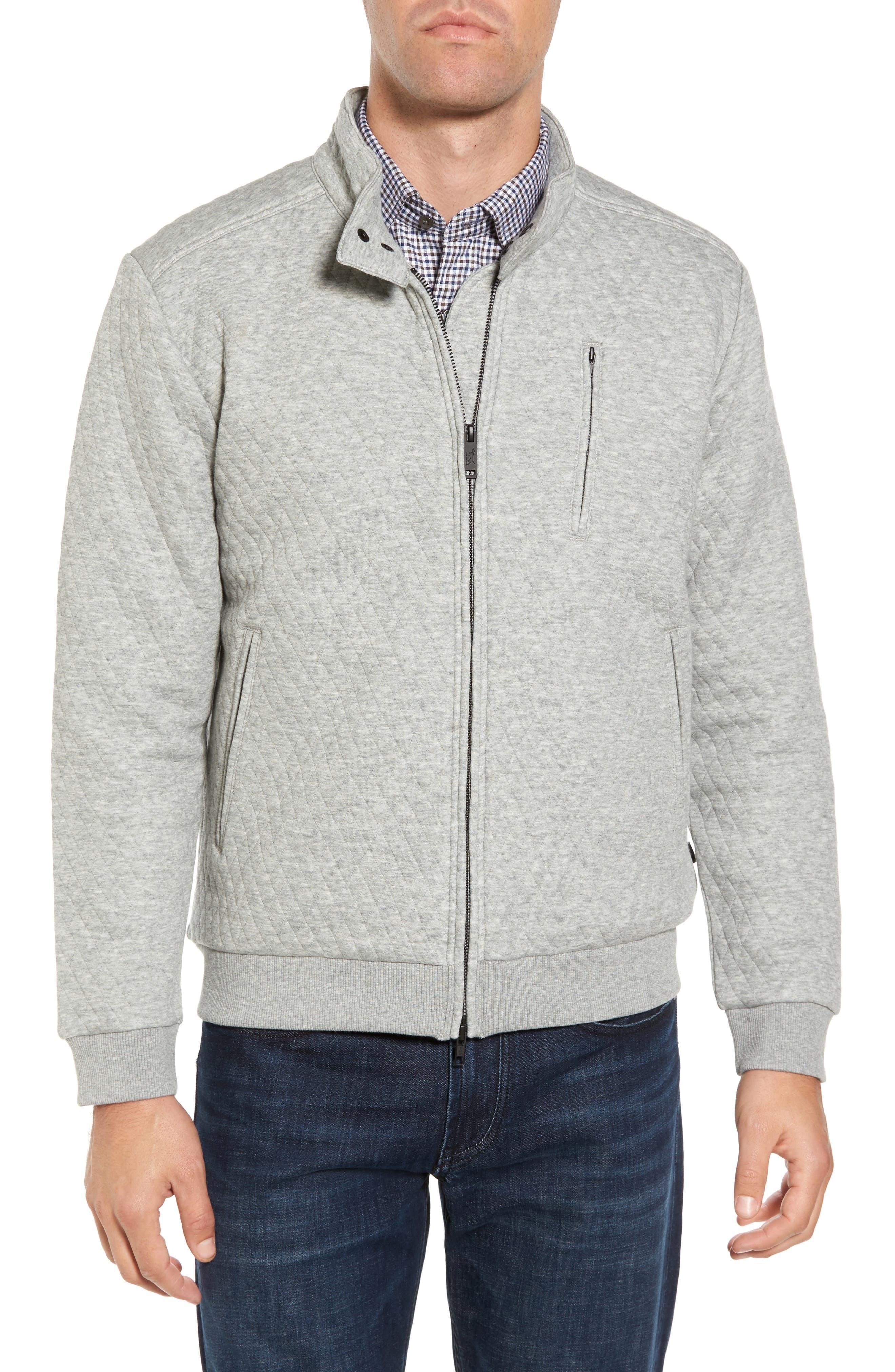RODD & GUNN, Skipjack Pass Quilted Fleece Jacket, Main thumbnail 1, color, ASH