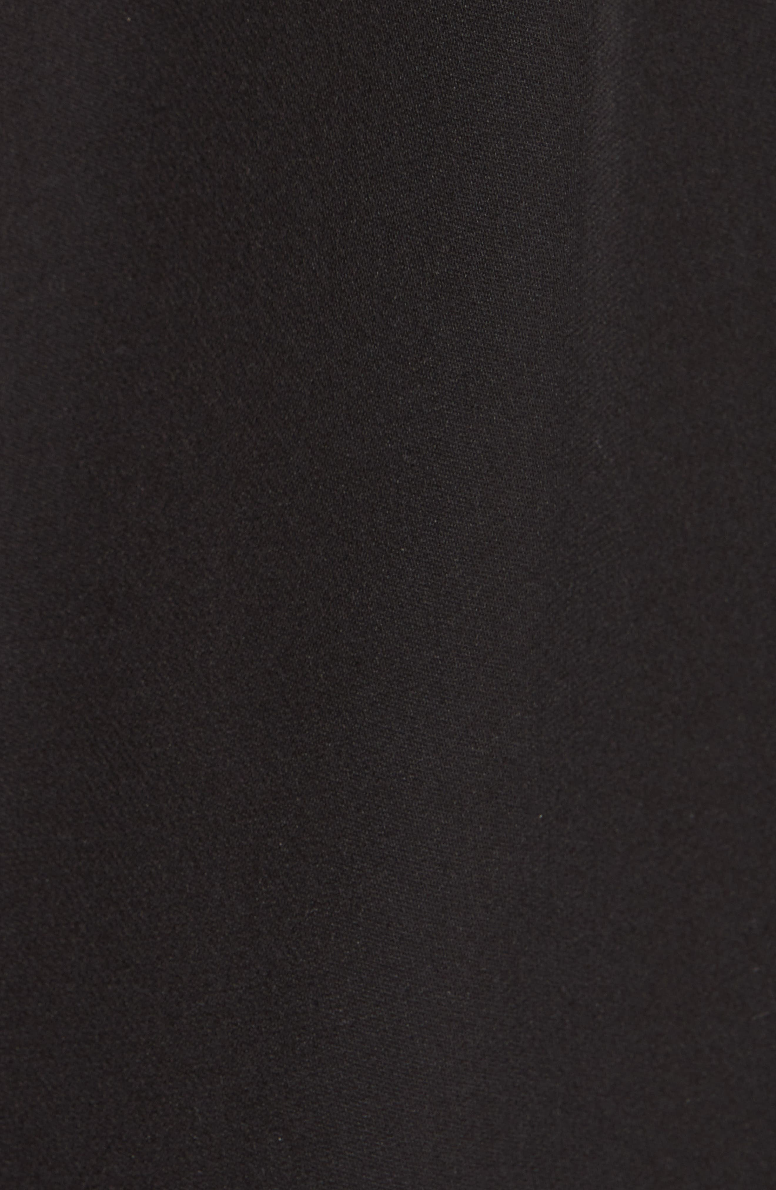 VINCE, Mock Neck Silk Shell, Alternate thumbnail 5, color, BLACK