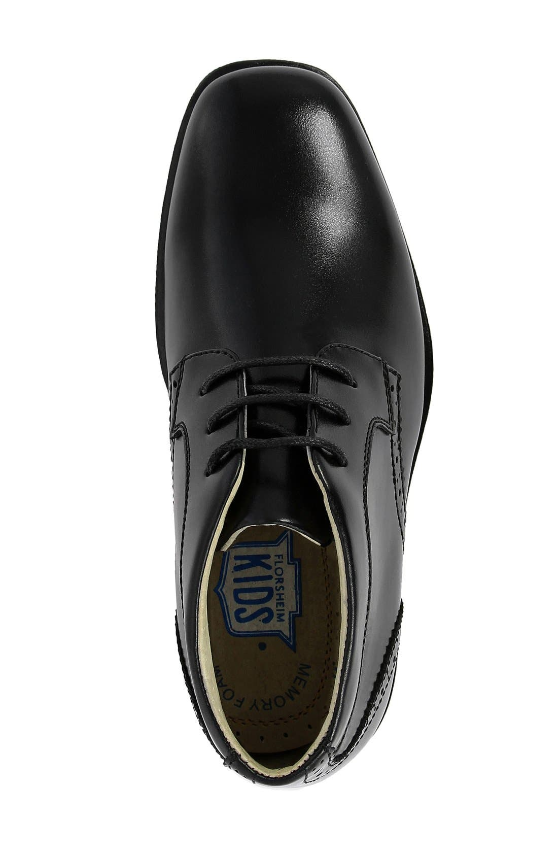 FLORSHEIM, 'Reveal' Chukka Boot, Alternate thumbnail 5, color, BLACK LEATHER