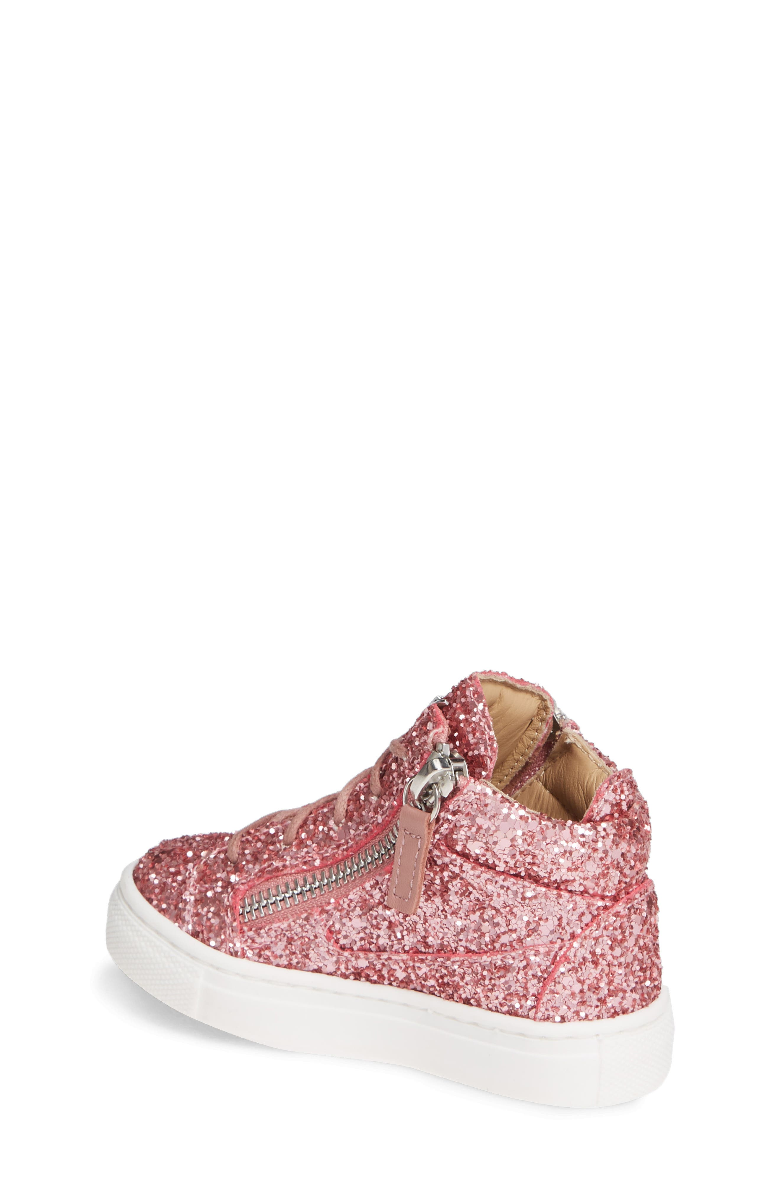 GIUSEPPE ZANOTTI, Natalie High Top Sneaker, Alternate thumbnail 2, color, LIPGLOSS