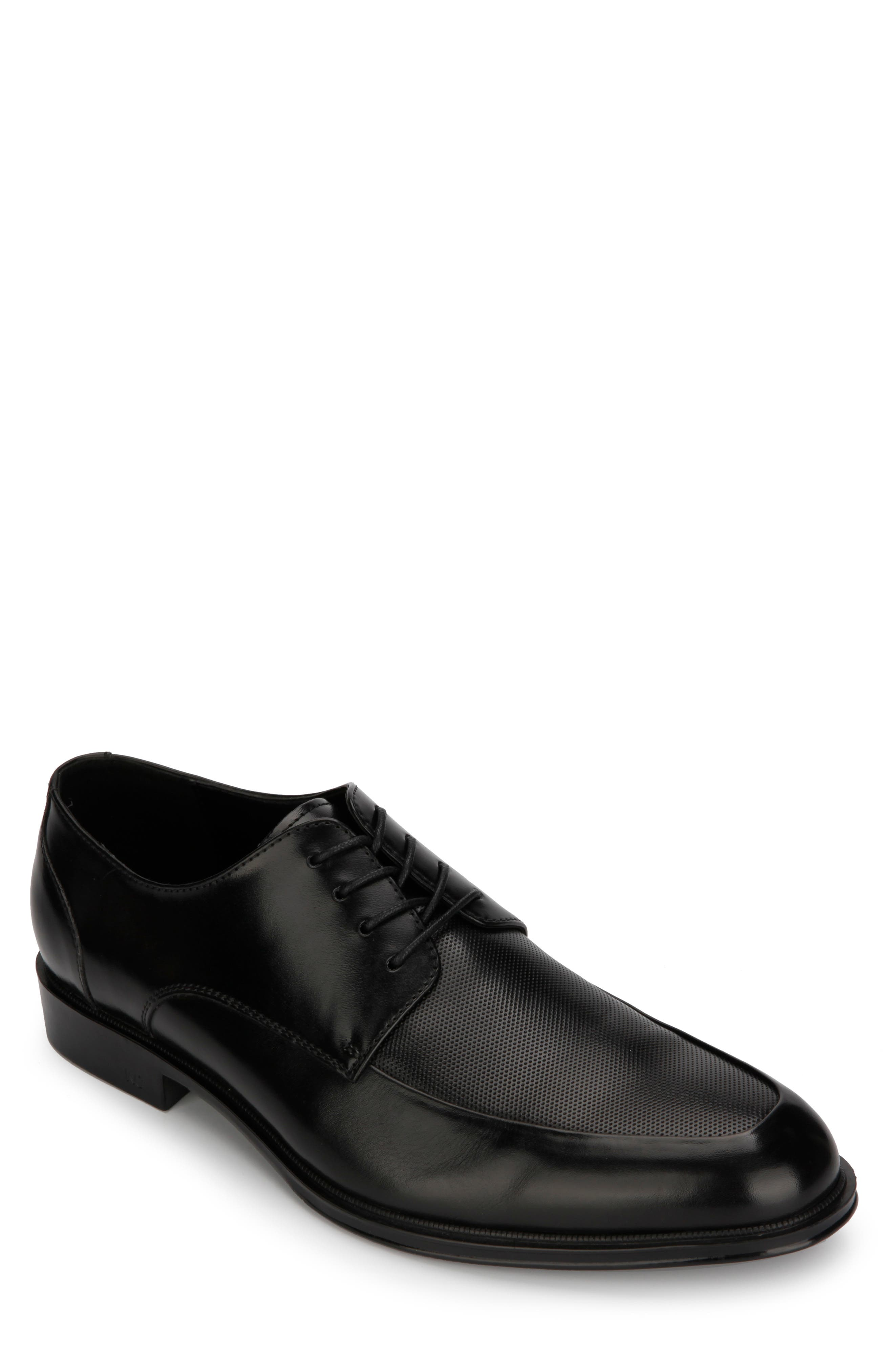REACTION KENNETH COLE Zac Moc Toe Derby, Main, color, BLACK
