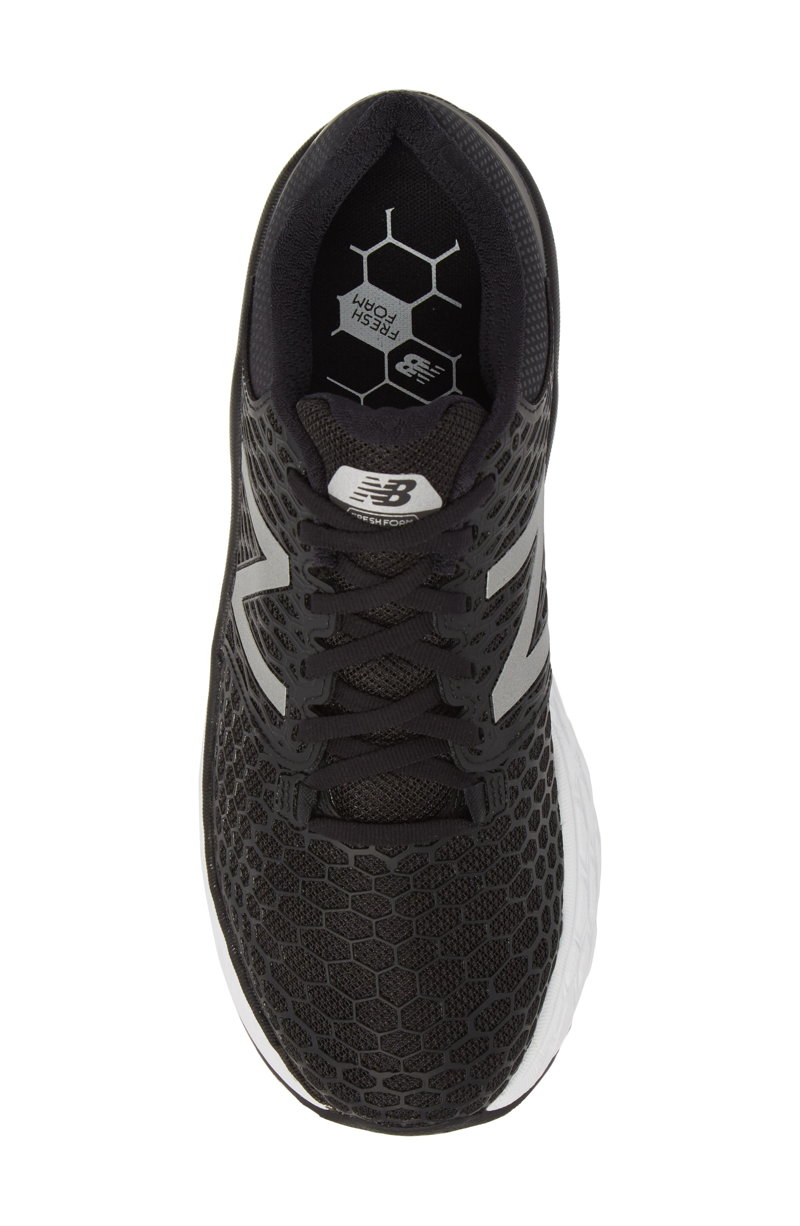 NEW BALANCE, Fresh Foam Vongo v3 Running Shoe, Alternate thumbnail 5, color, BLACK