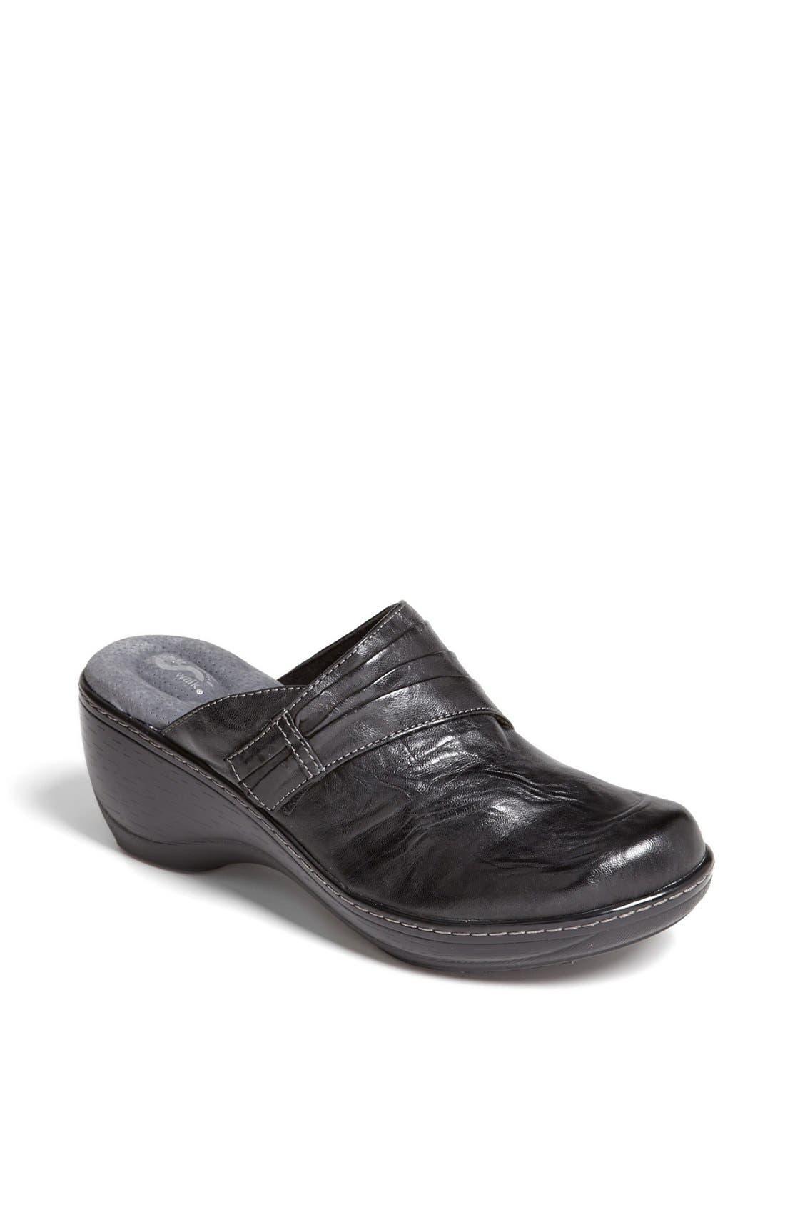 SOFTWALK<SUP>®</SUP> 'Mason' Clog, Main, color, BLACK LEATHER
