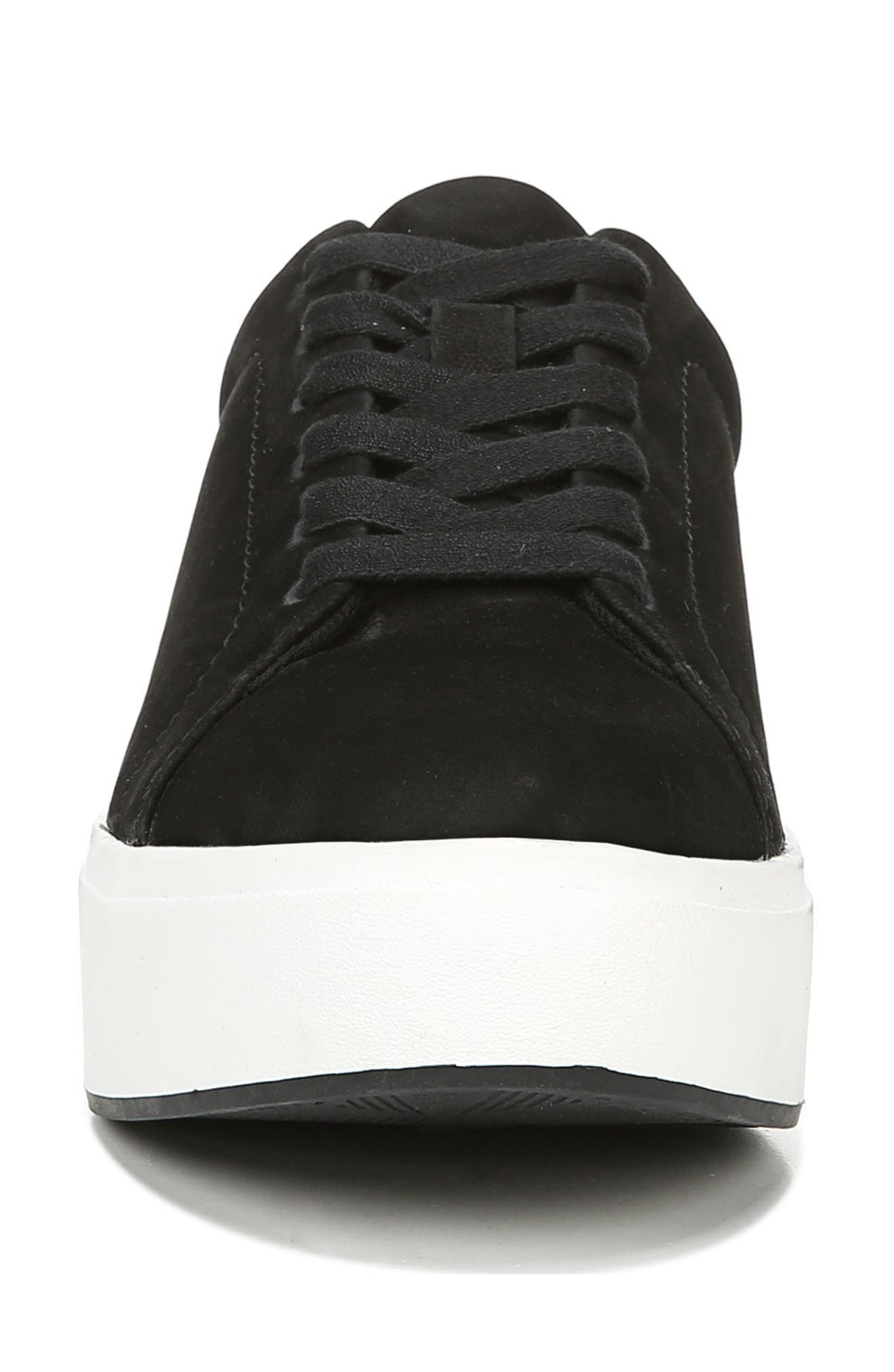 DR. SCHOLL'S, Abbot Luxe Platform Sneaker, Alternate thumbnail 4, color, BLACK SUEDE