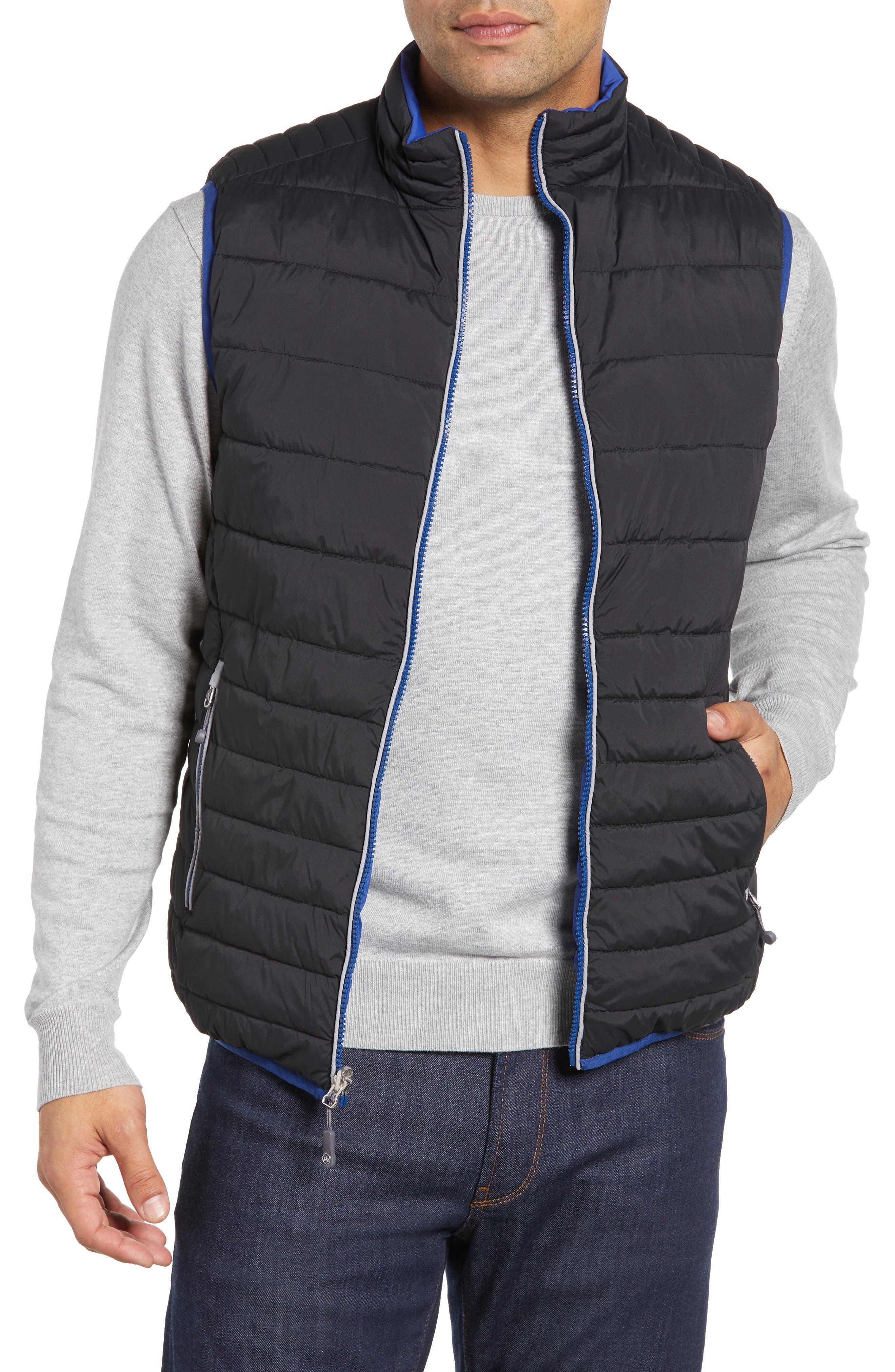 PETER MILLAR, Crown Elite Reversible Vest, Main thumbnail 1, color, BLACK/SAIL