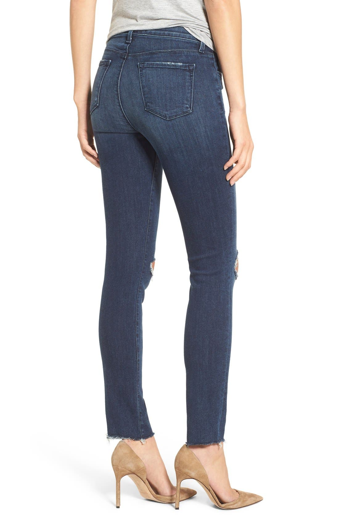 J BRAND, '811' Ankle Skinny Jeans, Alternate thumbnail 5, color, 401