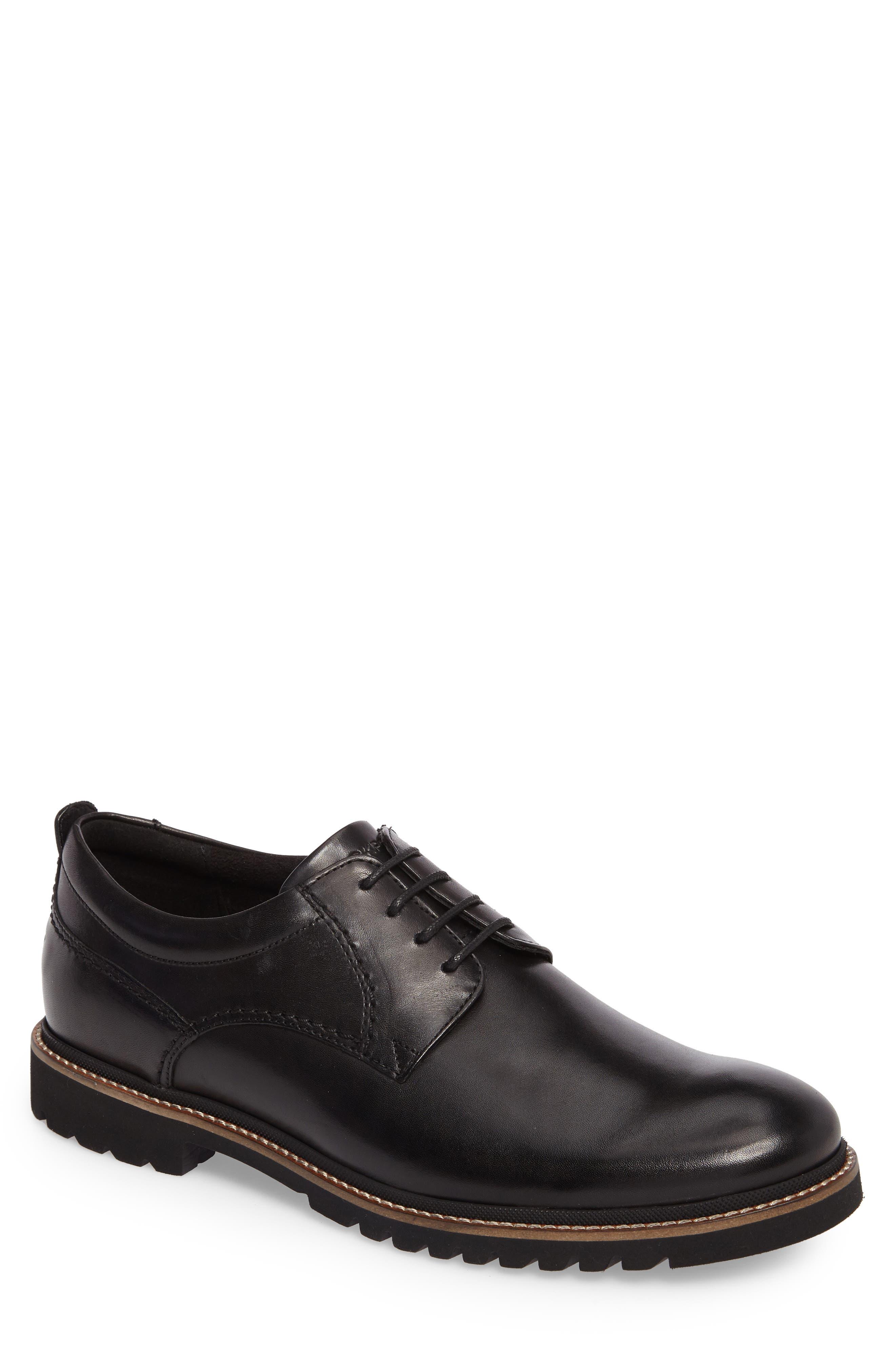 ROCKPORT Marshall Buck Shoe, Main, color, BLACK LEATHER