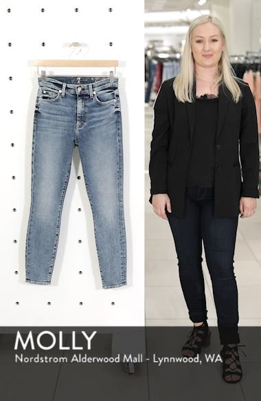 Luxe Vintage High Waist Ankle Skinny Jeans, sales video thumbnail