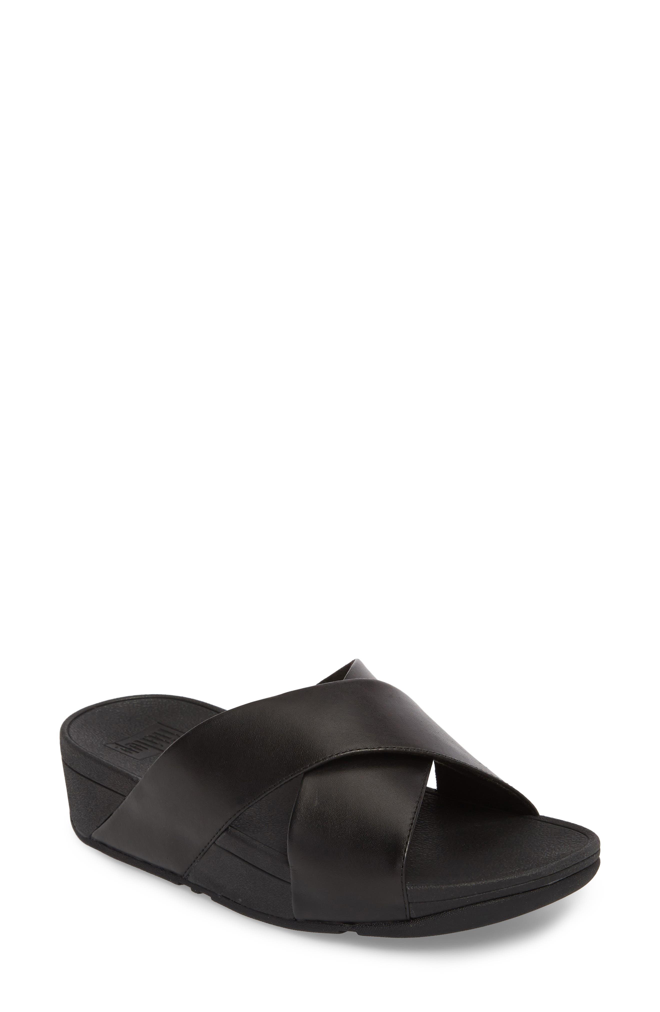 FITFLOP Lulu Cross Slide Sandal, Main, color, 001