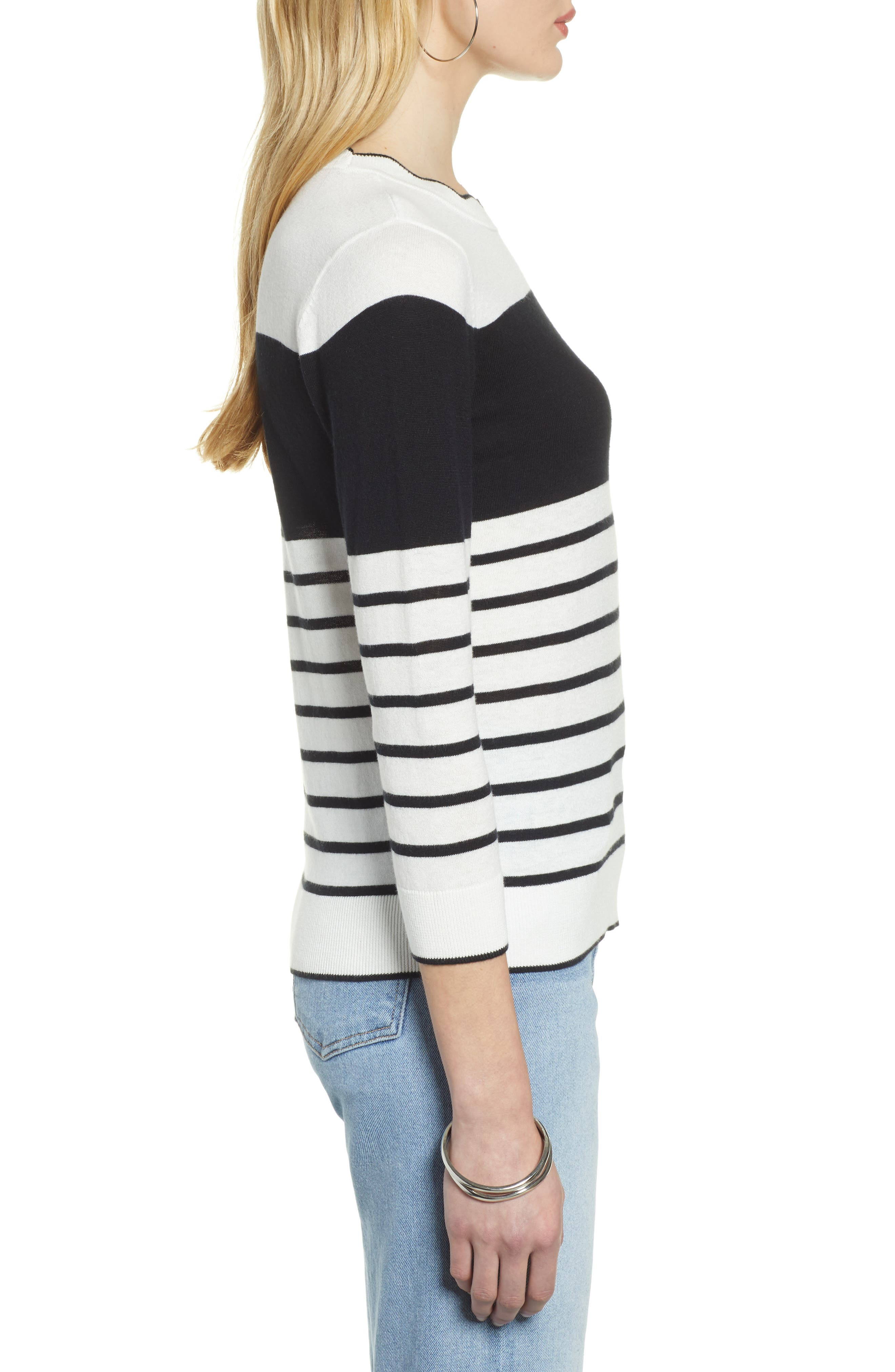 HALOGEN<SUP>®</SUP>, Scallop Neck Sweater, Alternate thumbnail 3, color, 900