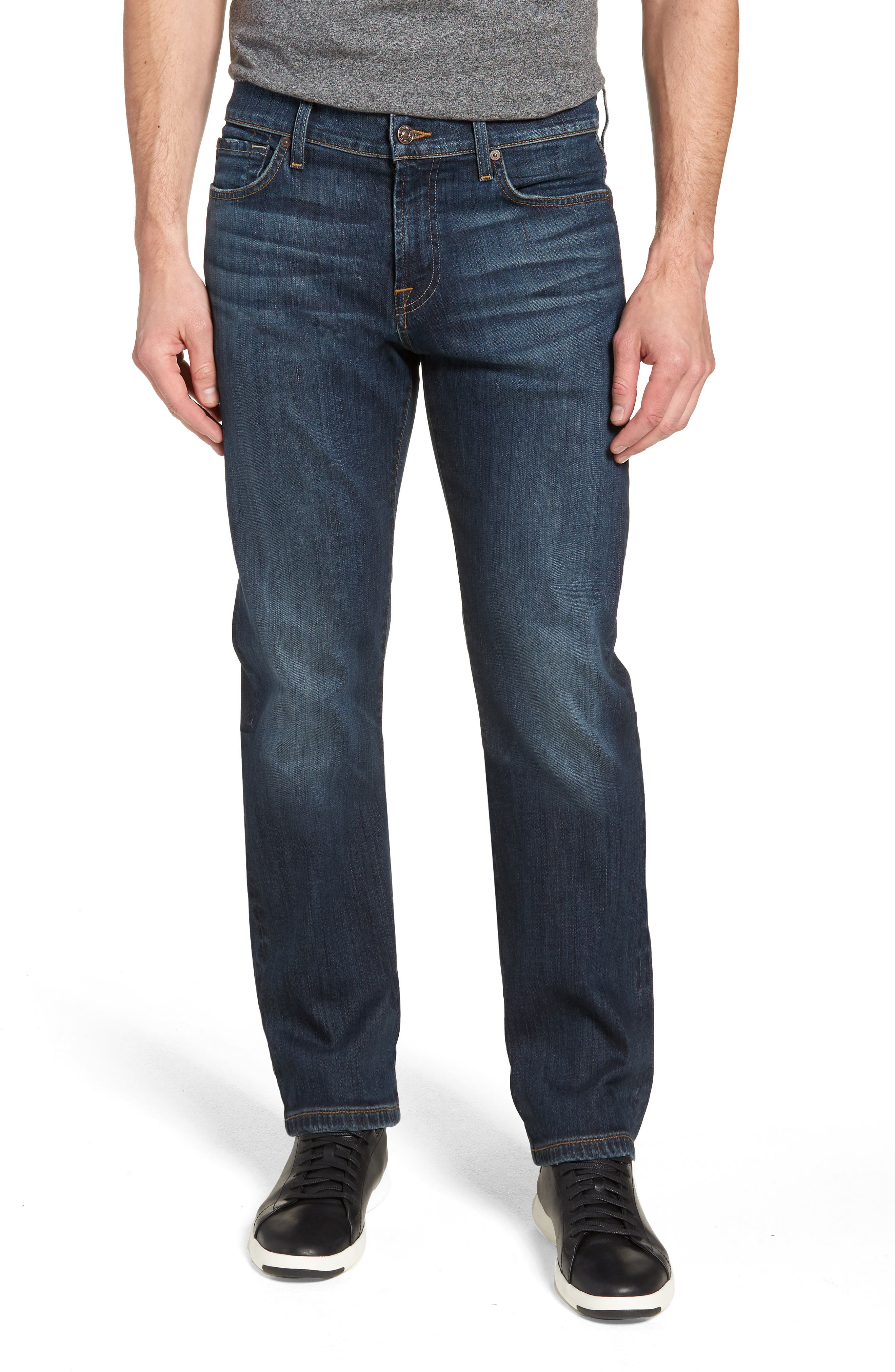 7 FOR ALL MANKIND<SUP>®</SUP>, Luxe Performance Standard Straight Leg Jeans, Main thumbnail 1, color, LUXE PERFORMANCE YELM