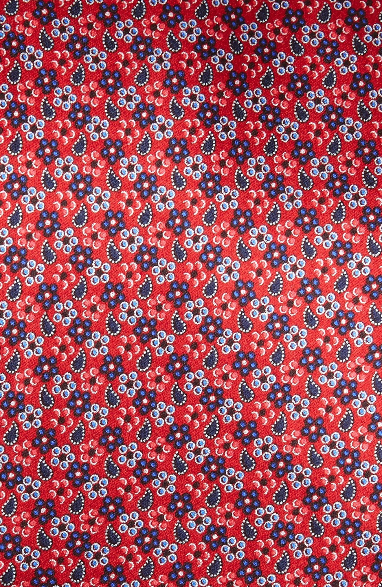 ERMENEGILDO ZEGNA, Microfloral Silk Tie, Alternate thumbnail 2, color, 618