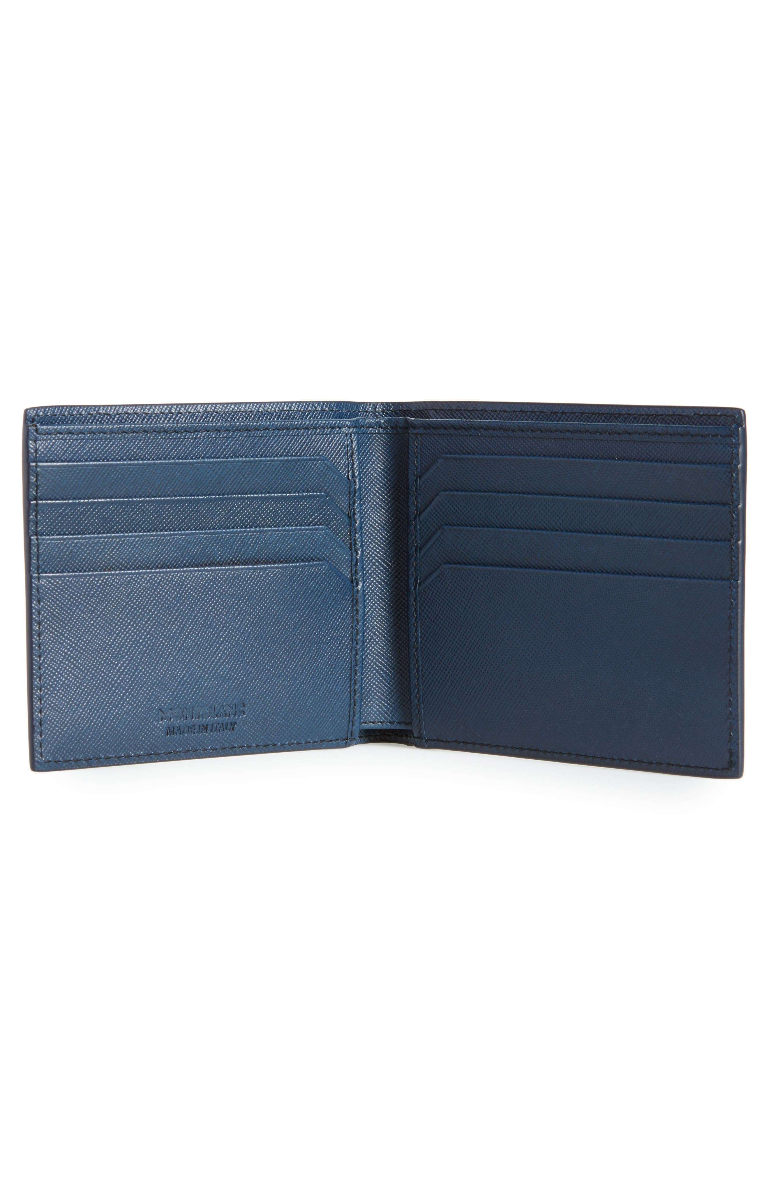 MONTBLANC, Sartorial Leather Wallet, Alternate thumbnail 2, color, INDIGO