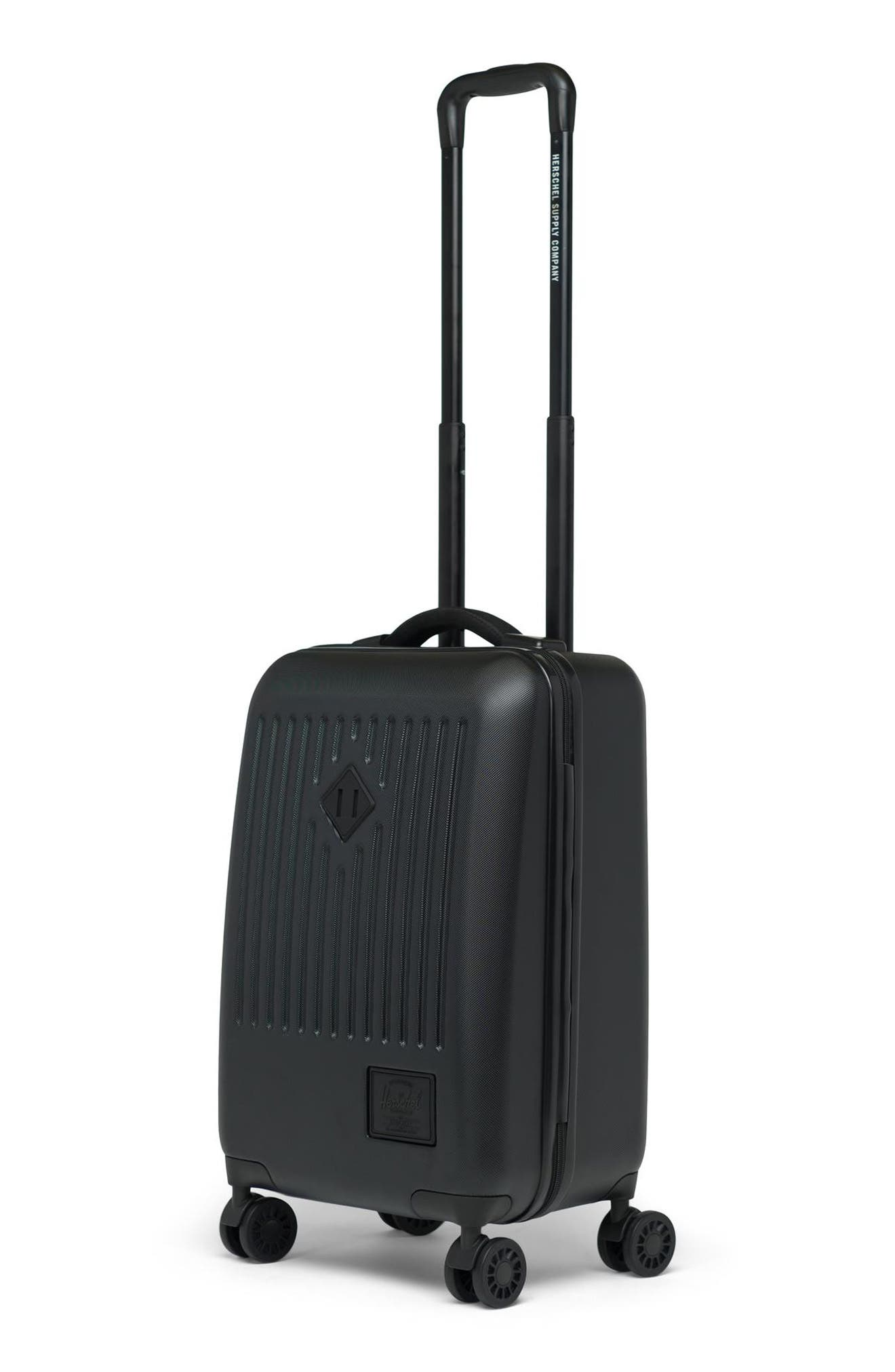 HERSCHEL SUPPLY CO., Small Trade 23-Inch Rolling Suitcase, Alternate thumbnail 5, color, BLACK
