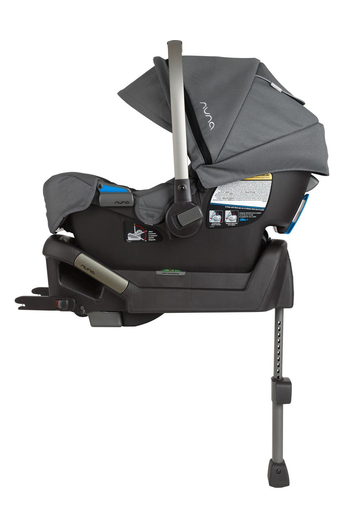 NUNA, PIPA<sup>™</sup> Car Seat & Base, Alternate thumbnail 2, color, GRAPHITE