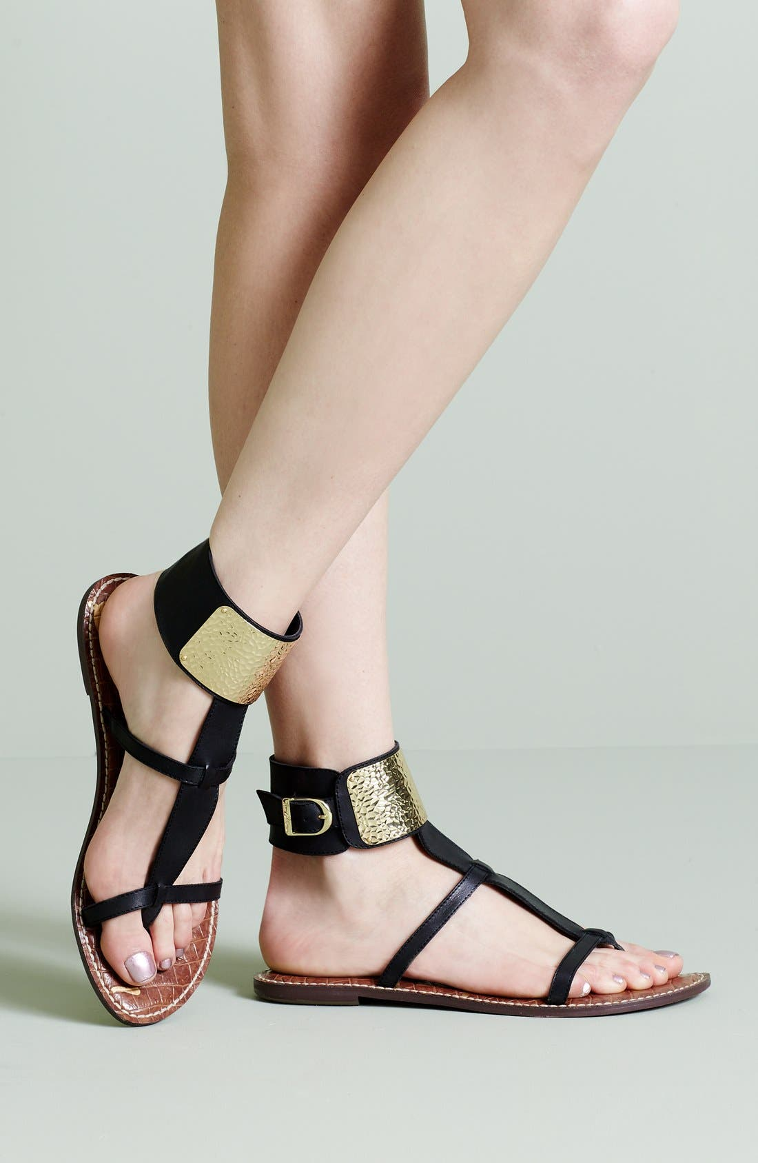 SAM EDELMAN, 'Genette' Sandal, Alternate thumbnail 6, color, 001