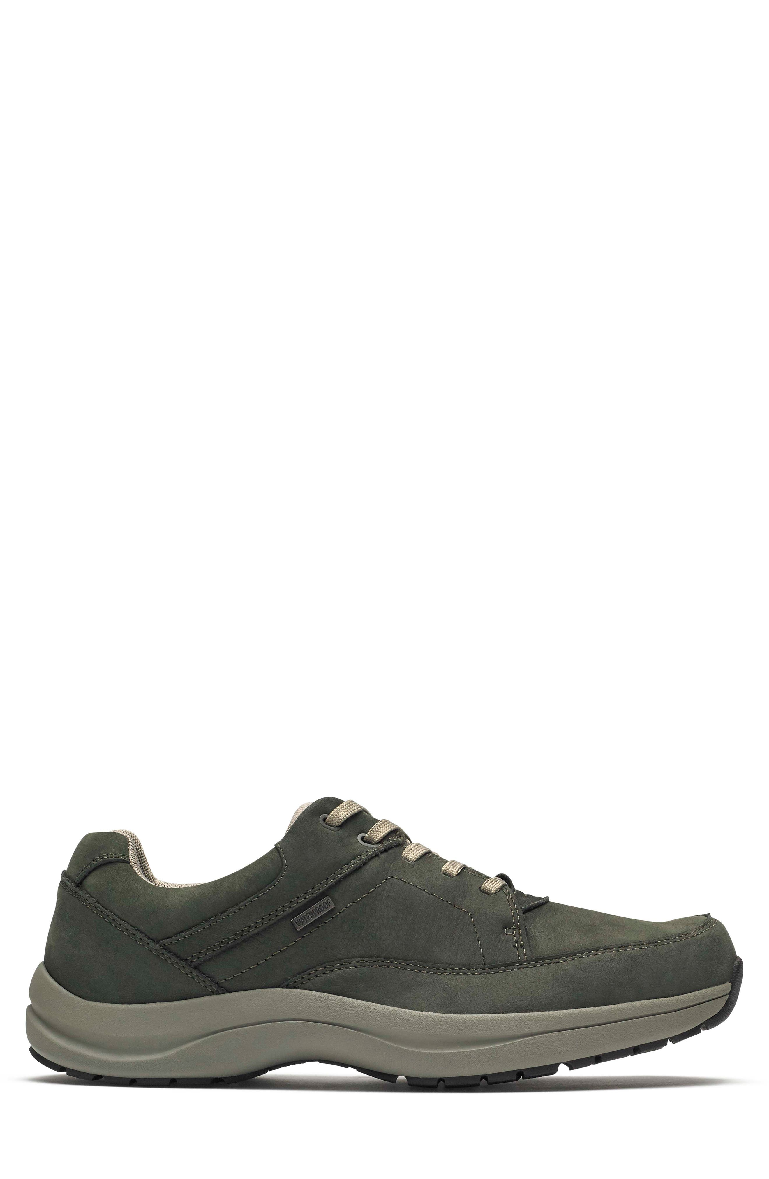 DUNHAM, Stephen-DUN Waterproof Derby, Alternate thumbnail 3, color, GREEN LEATHER