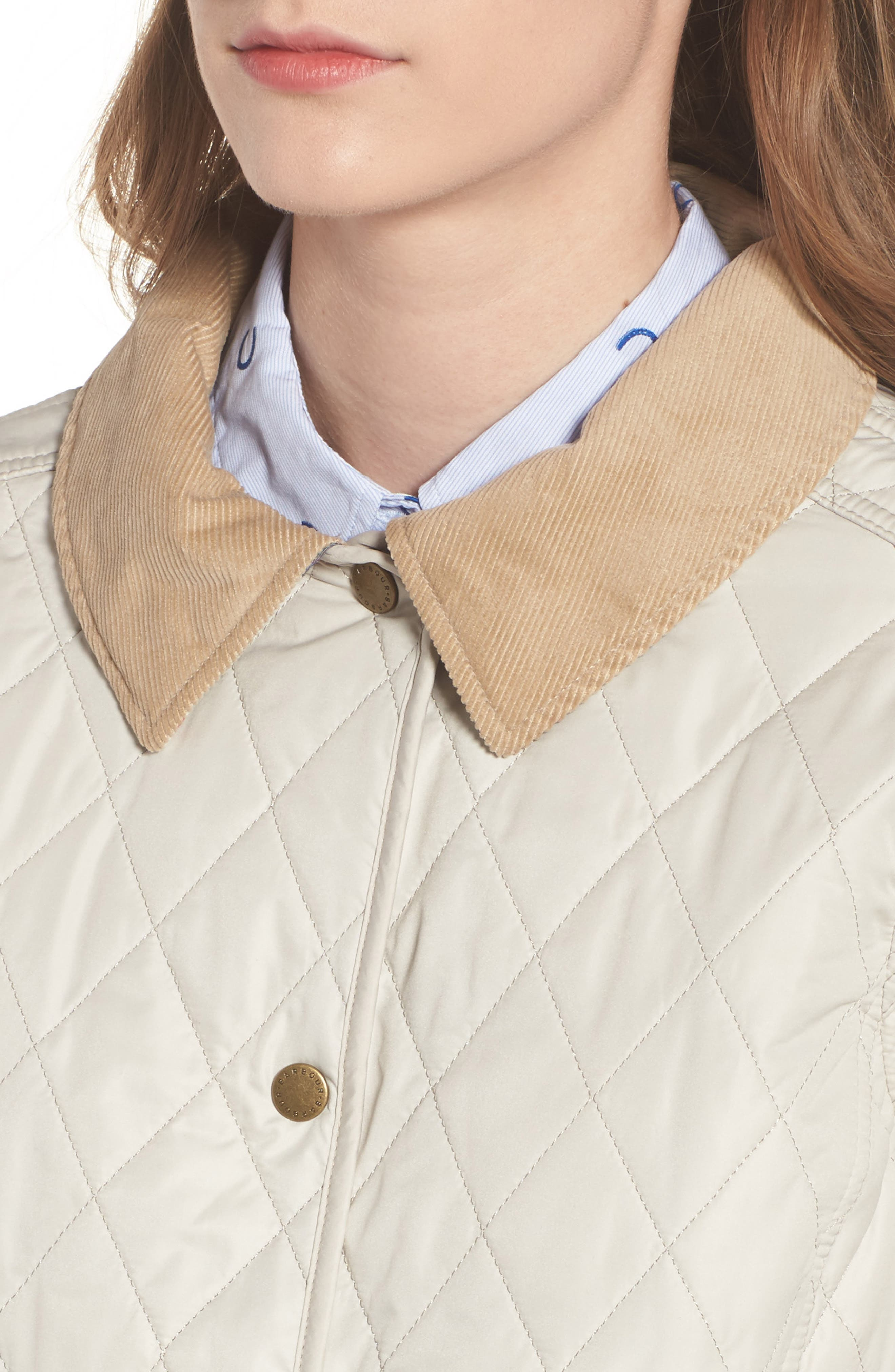 BARBOUR, Spring Annandale Quilted Jacket, Alternate thumbnail 5, color, 270