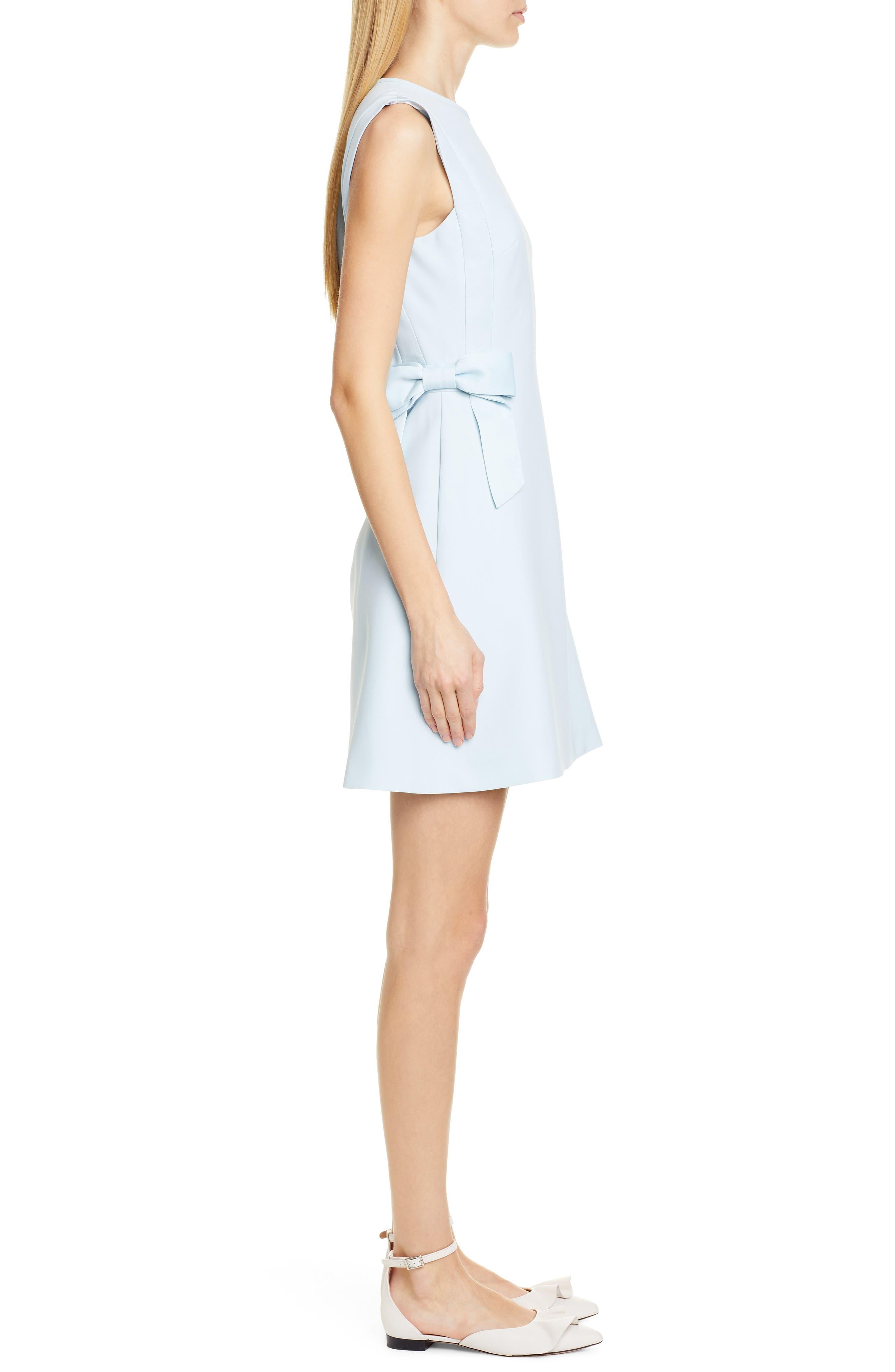 TED BAKER LONDON, Meline Side Bow Detail Dress, Alternate thumbnail 4, color, MINT