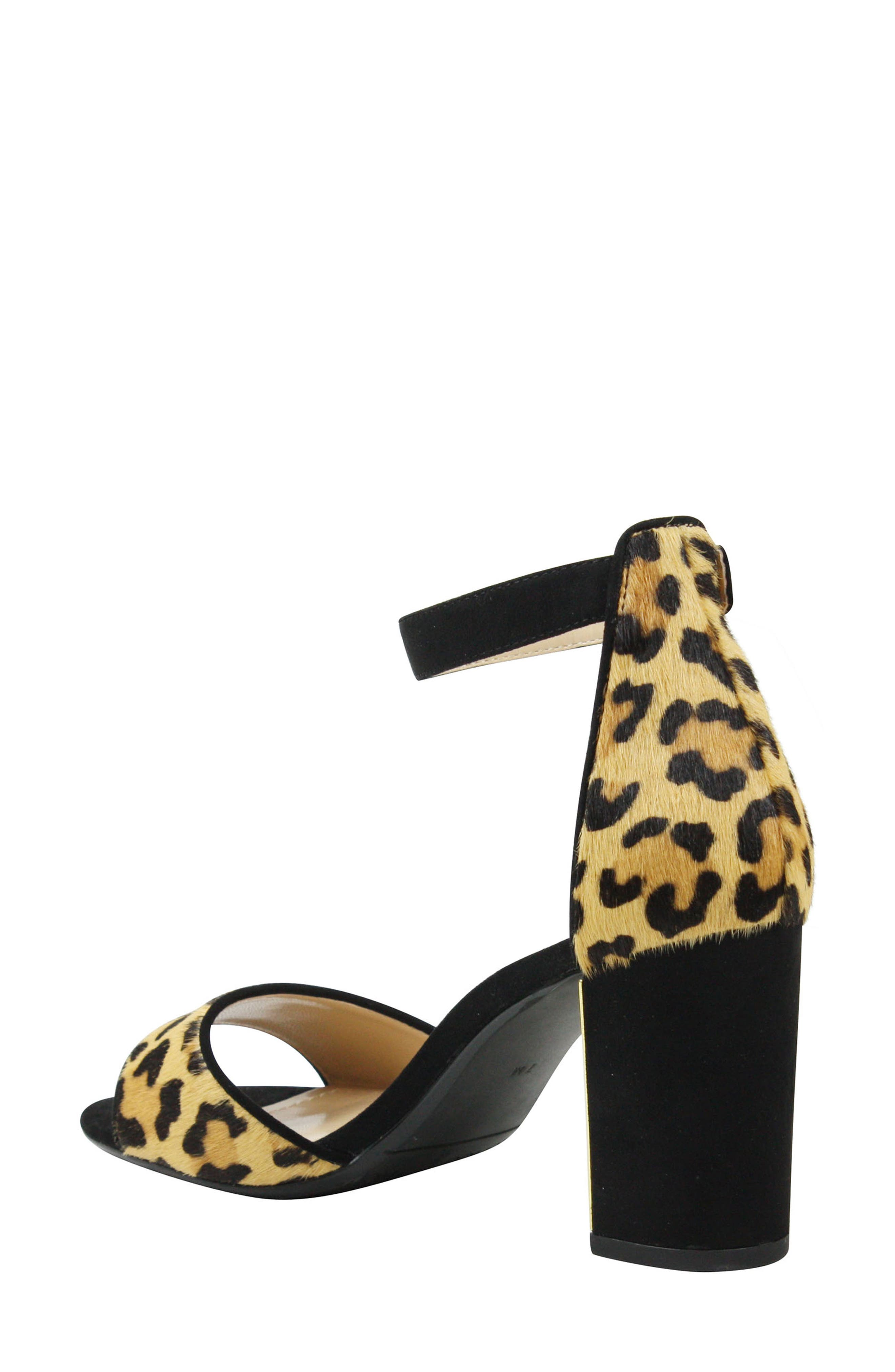 J. RENEÉ, Flaviana Ankle Strap Sandal, Alternate thumbnail 2, color, BLACK/ BROWN CALF HAIR