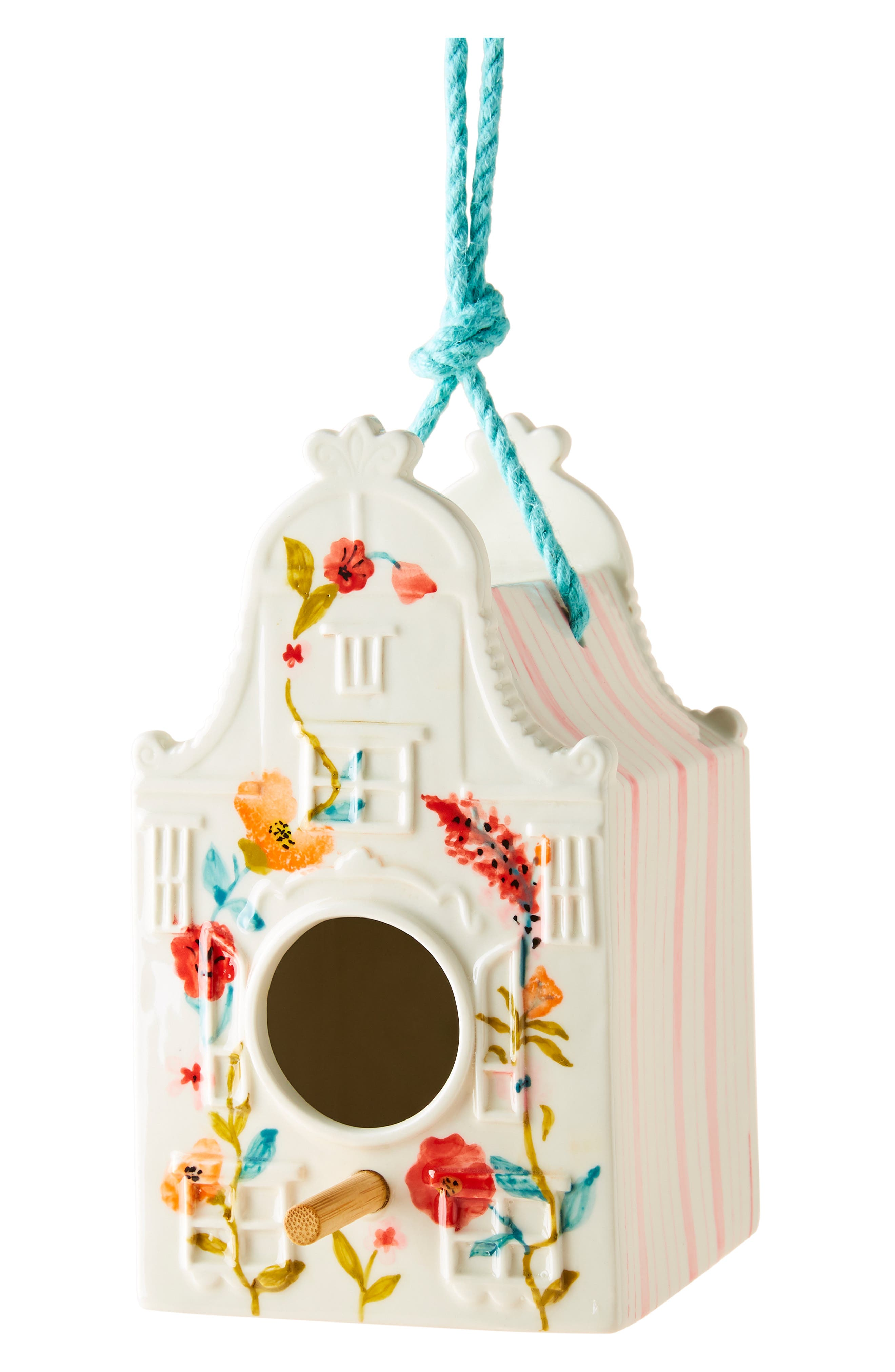 ANTHROPOLOGIE, Athropologie Alice Birdhouse, Alternate thumbnail 4, color, PINK