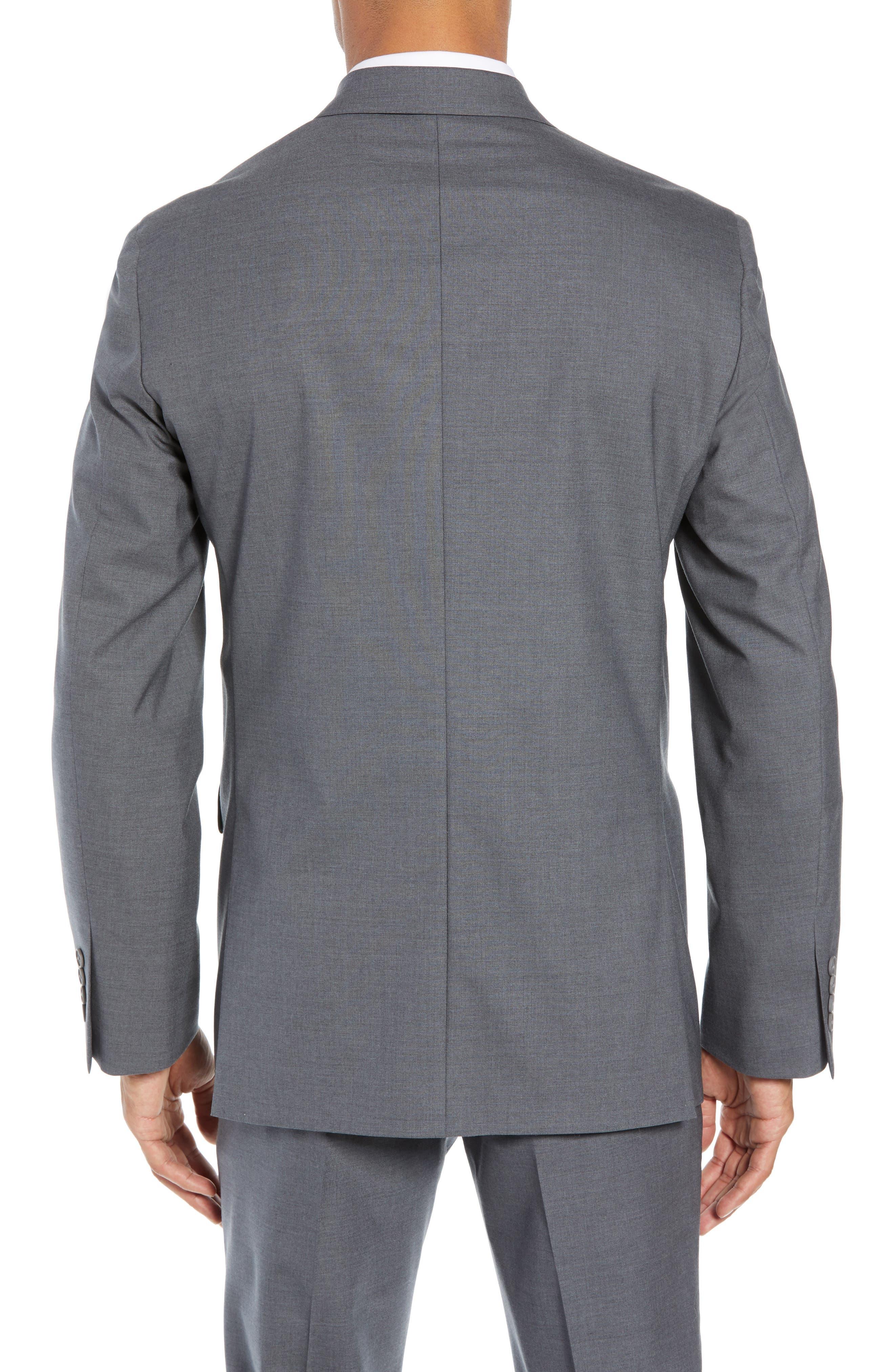 NORDSTROM MEN'S SHOP, Tech-Smart Trim Fit Stretch Wool Travel Sport Coat, Alternate thumbnail 2, color, GREY