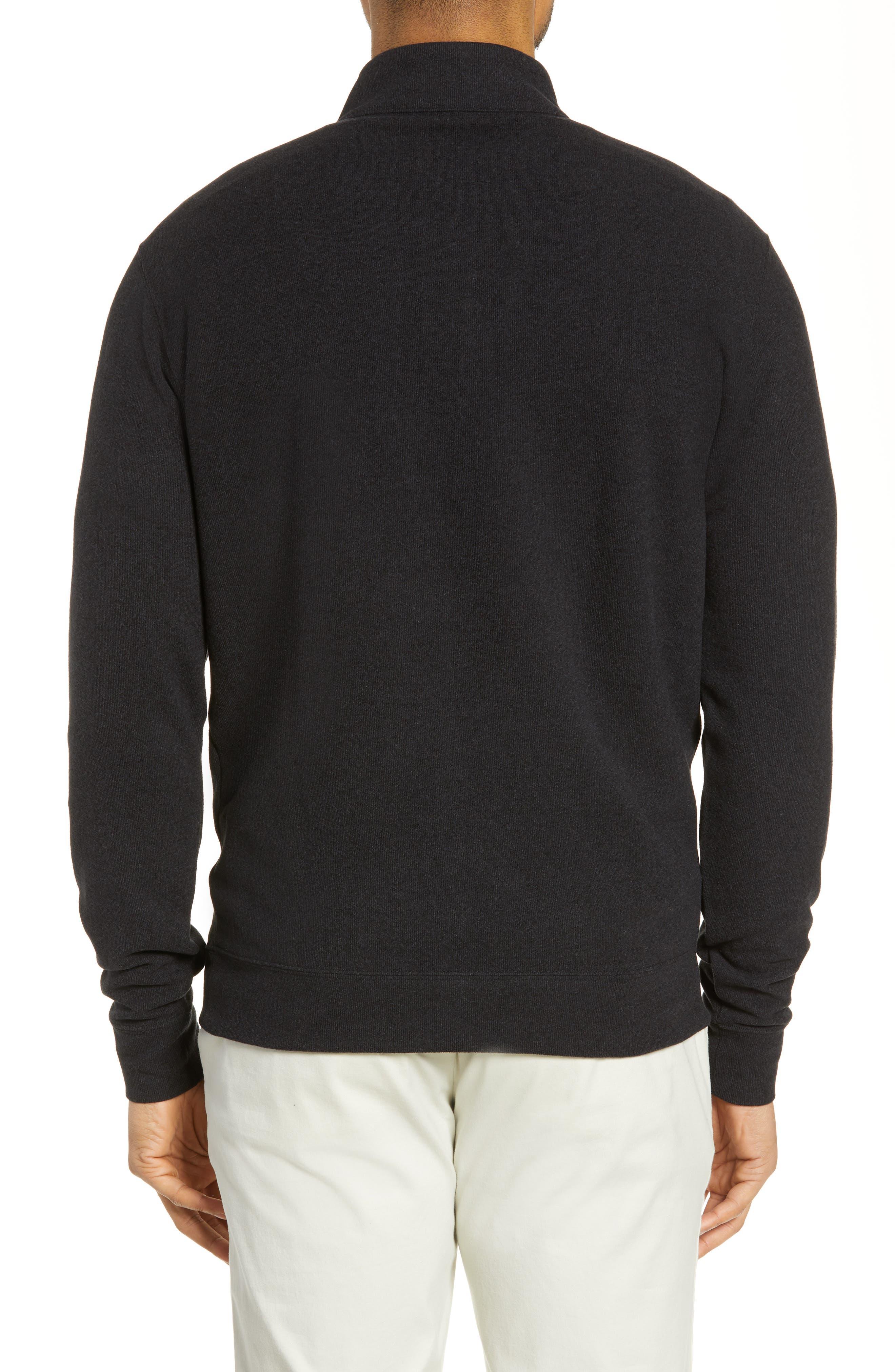 PETER MILLAR, Half Zip Pullover, Alternate thumbnail 2, color, BLACK