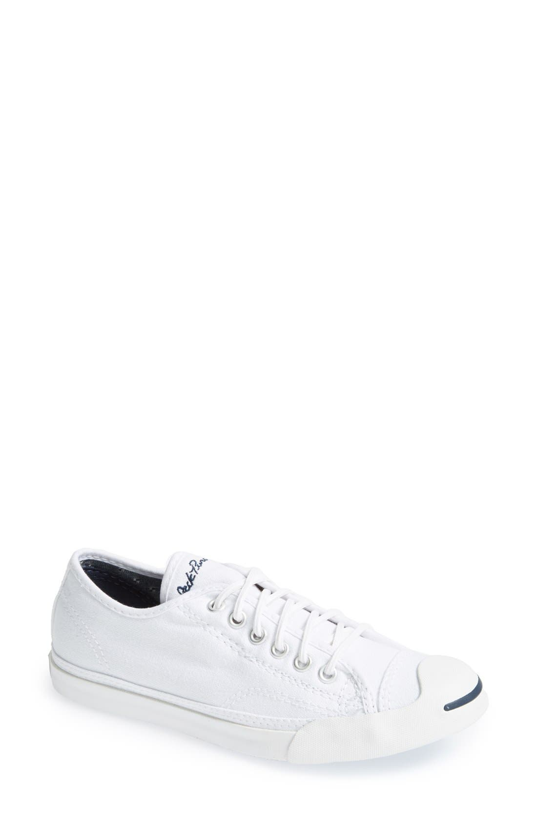 CONVERSE, Jack Purcell Low Top Sneaker, Alternate thumbnail 5, color, OPTIC WHITE