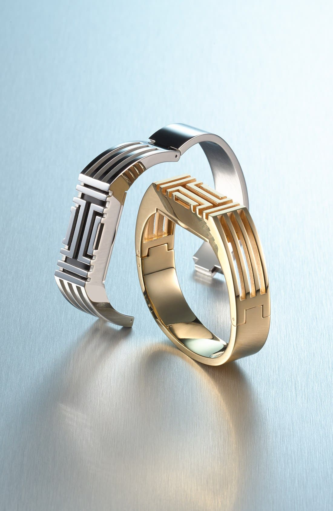 TORY BURCH, for Fitbit<sup>®</sup> Hinged Bracelet, Alternate thumbnail 3, color, 040