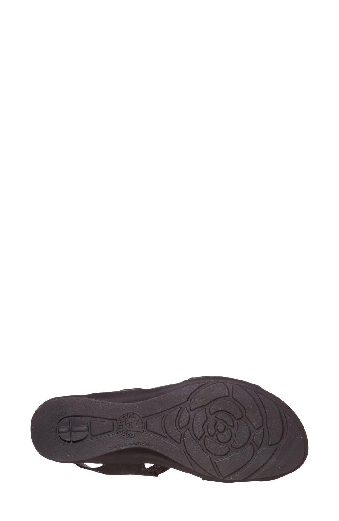 MEPHISTO, 'Paris' Slingback Sandal, Alternate thumbnail 7, color, BLACK