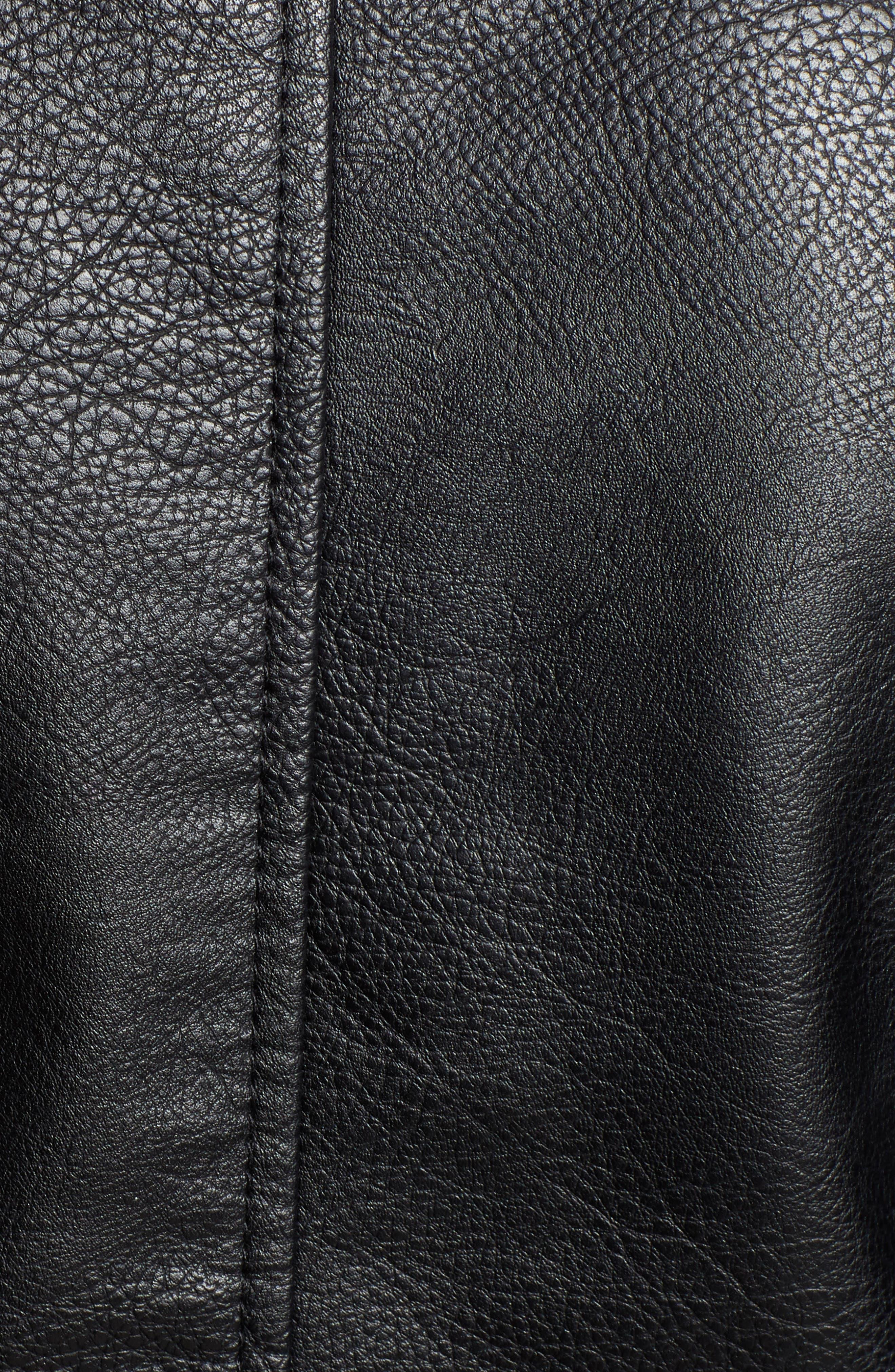 BB DAKOTA, Just Ride Faux Leather Jacket, Alternate thumbnail 7, color, BLACK