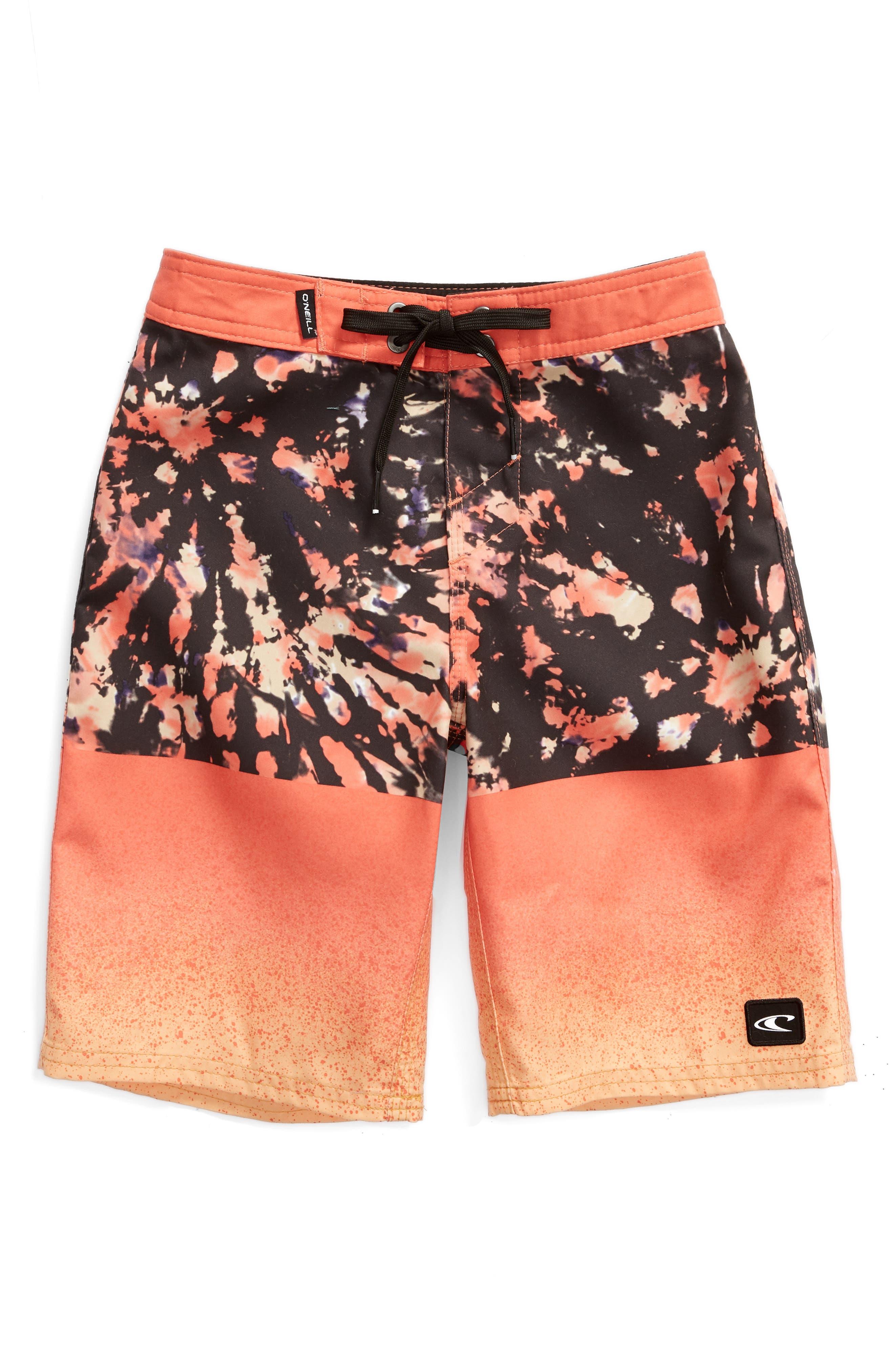 O'NEILL, Radiocool Board Shorts, Main thumbnail 1, color, CORAL