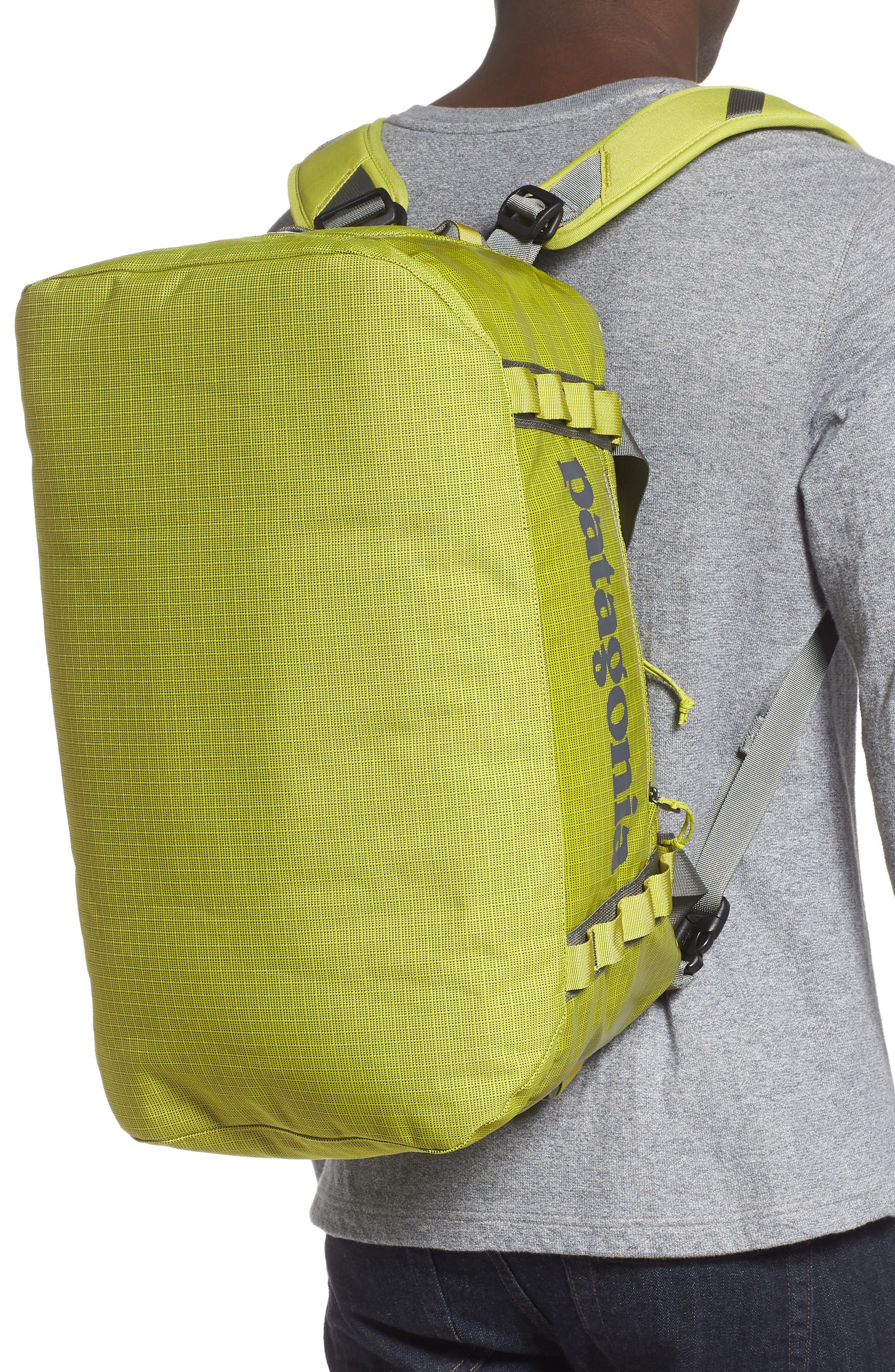 PATAGONIA, Black Hole Water Repellent 45-Liter Duffel Bag, Alternate thumbnail 4, color, FOLIOS GREEN