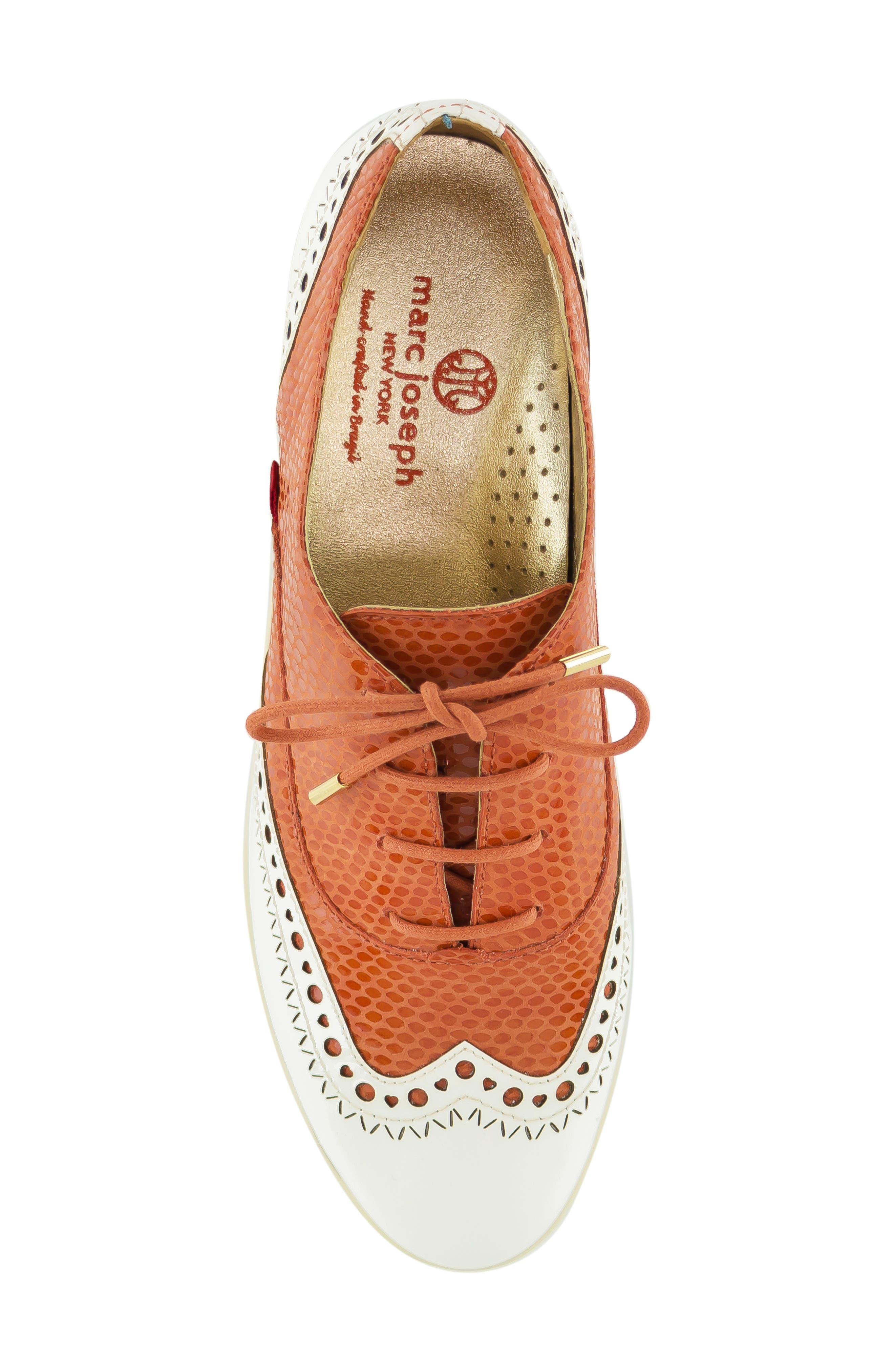 MARC JOSEPH NEW YORK, NYC Golf Loafer, Alternate thumbnail 5, color, CORAL SNAKE PRINT LEATHER