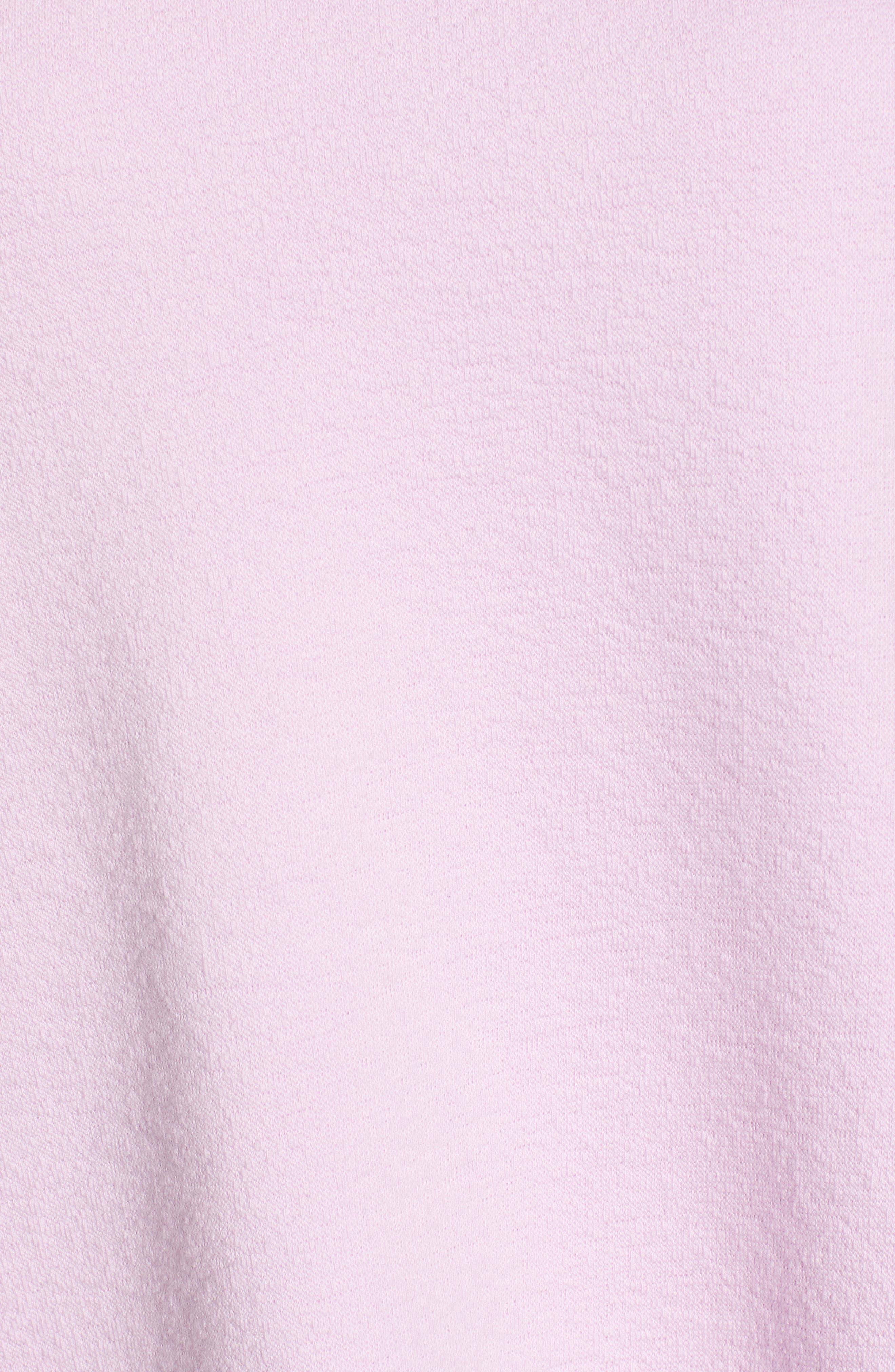 CASLON<SUP>®</SUP>, Side Slit Relaxed Sweatshirt, Alternate thumbnail 5, color, PINK BOUQUET