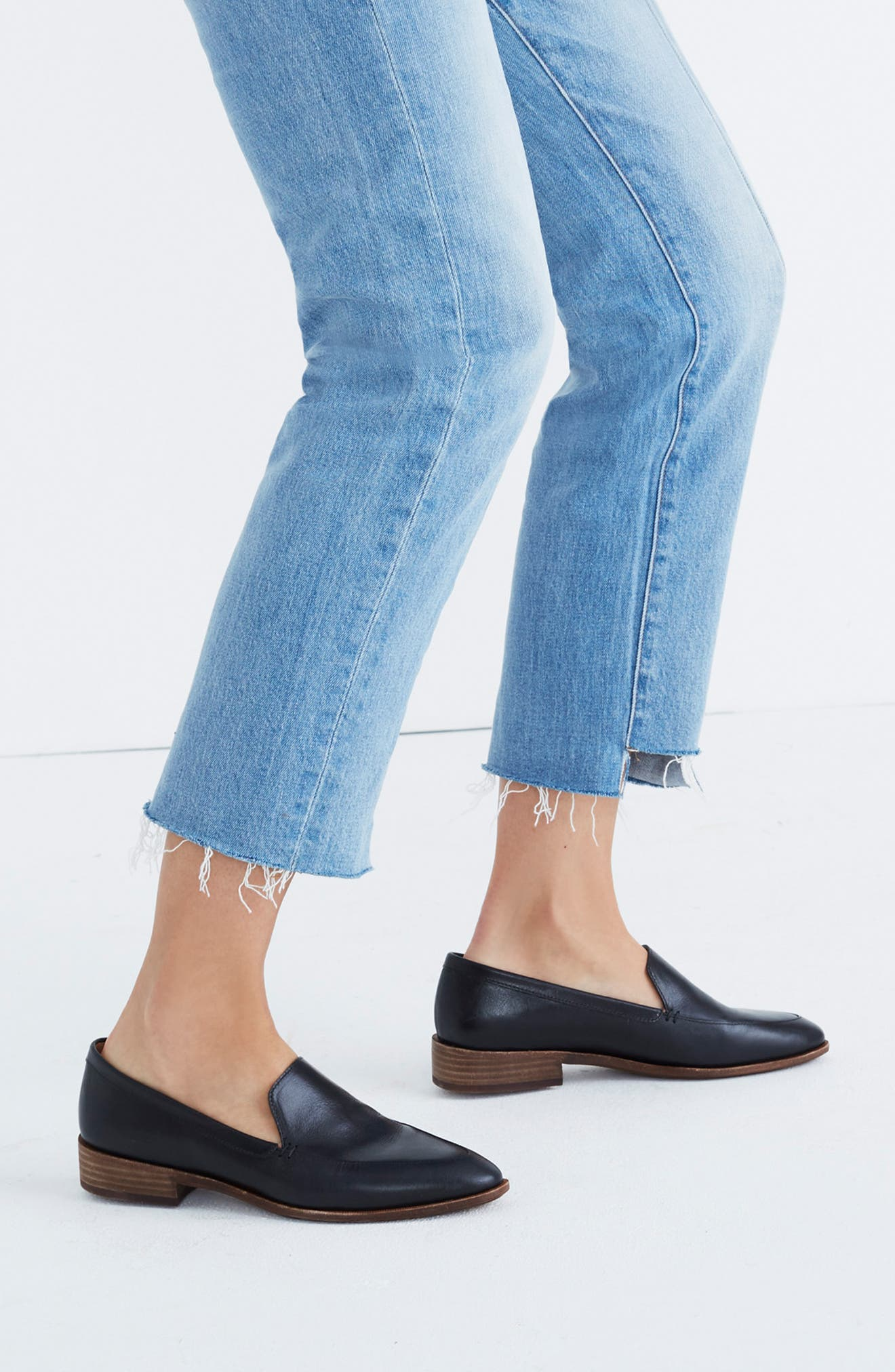 MADEWELL, The Frances Loafer, Alternate thumbnail 8, color, TRUE BLACK LEATHER