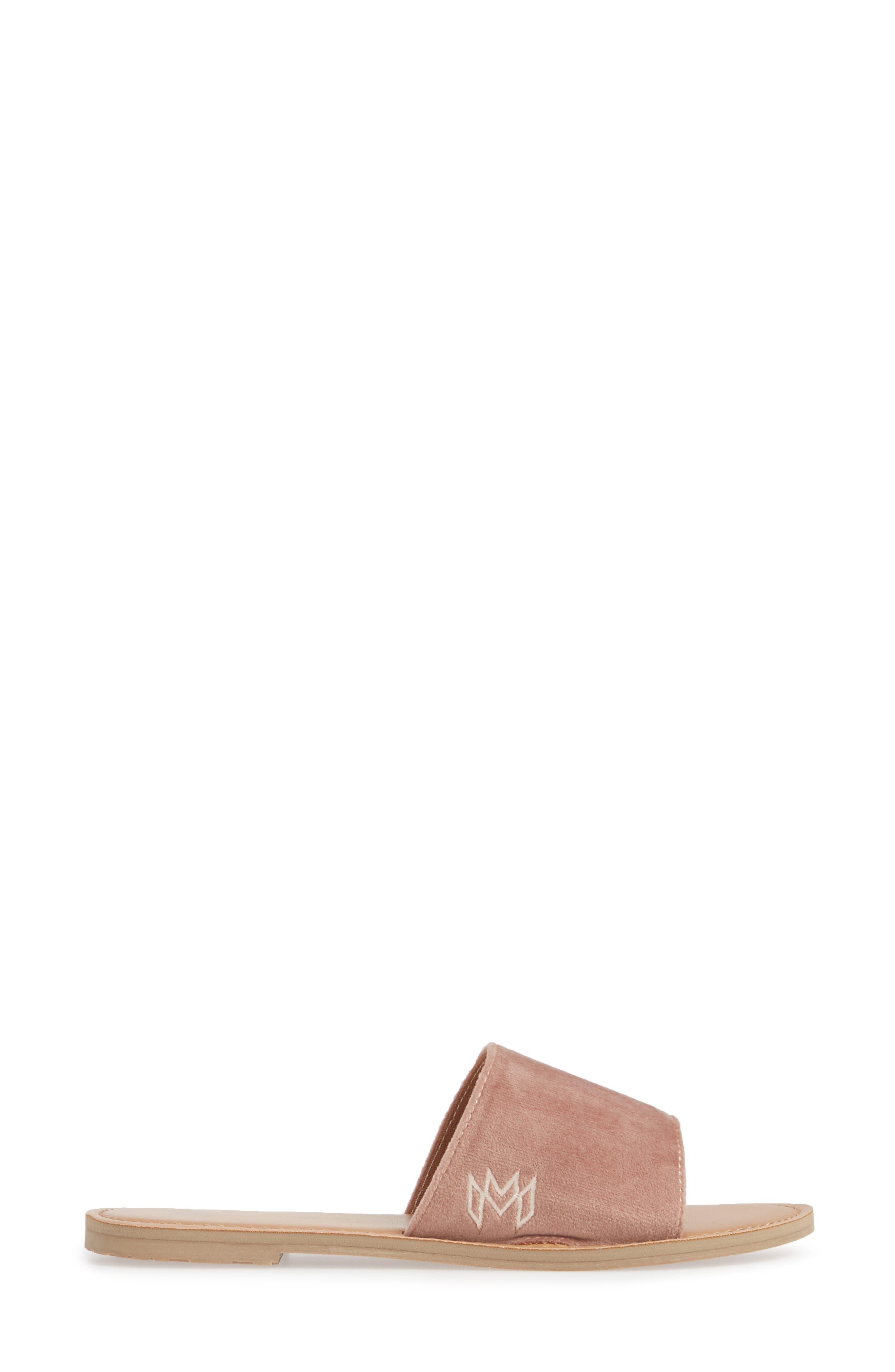 MALVADOS, Icon Taylor Plush Slide Sandal, Alternate thumbnail 3, color, COGNAC