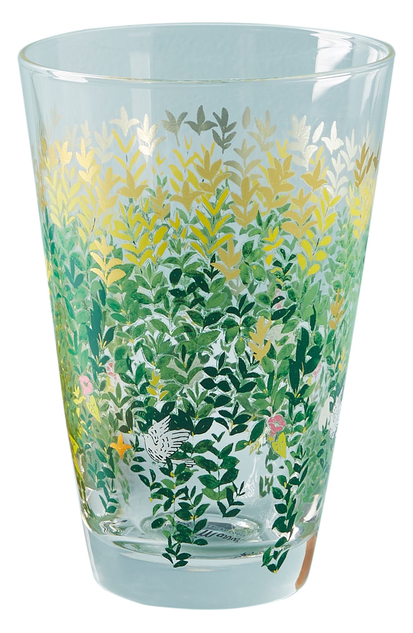 ANTHROPOLOGIE, Paule Marrot Juice Glass, Alternate thumbnail 4, color, CLEAR - LEAVES