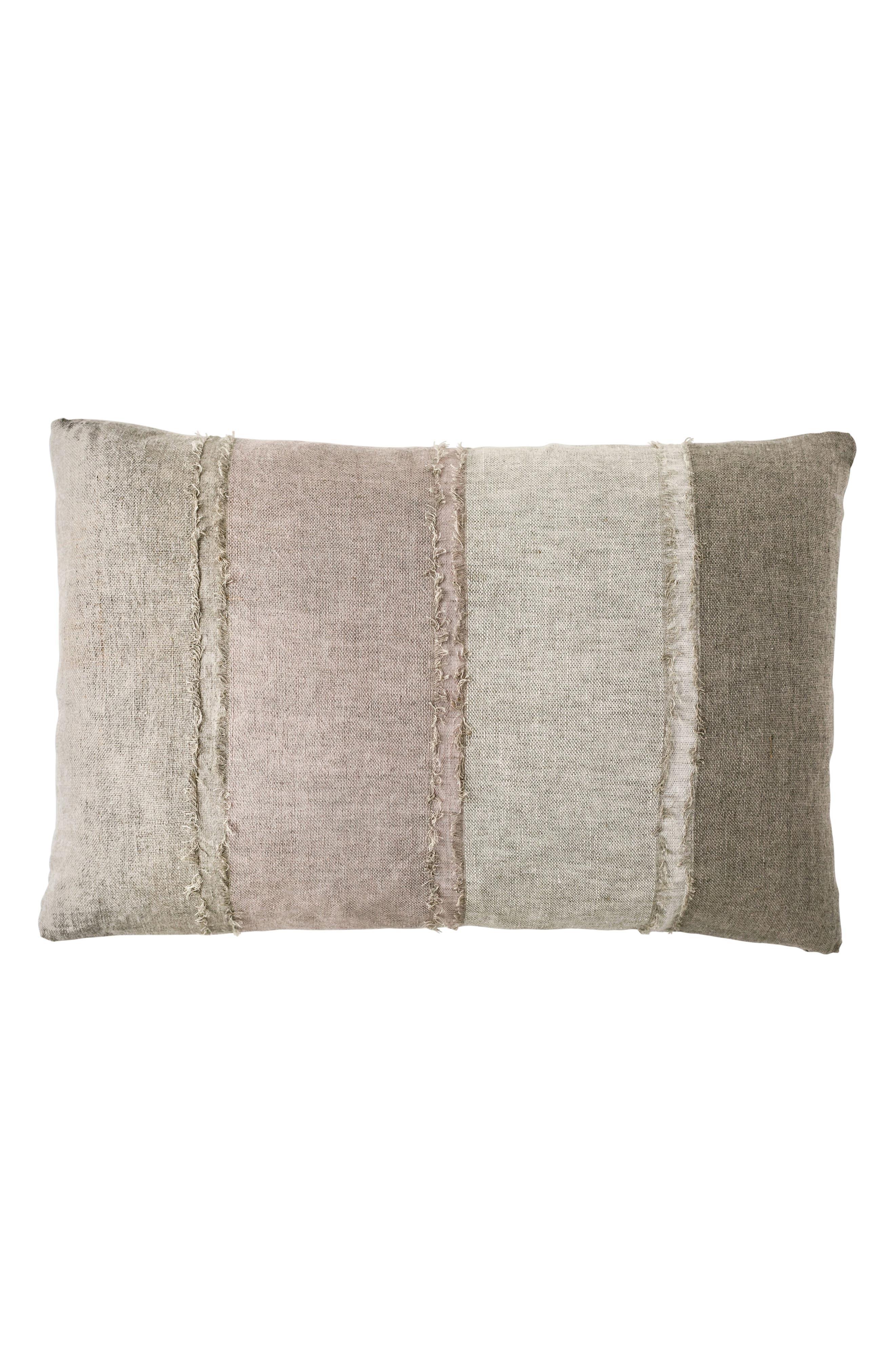 EADIE LIFESTYLE, European Linen Paneled Accent Pillow, Main thumbnail 1, color, SEA MIST MULTI