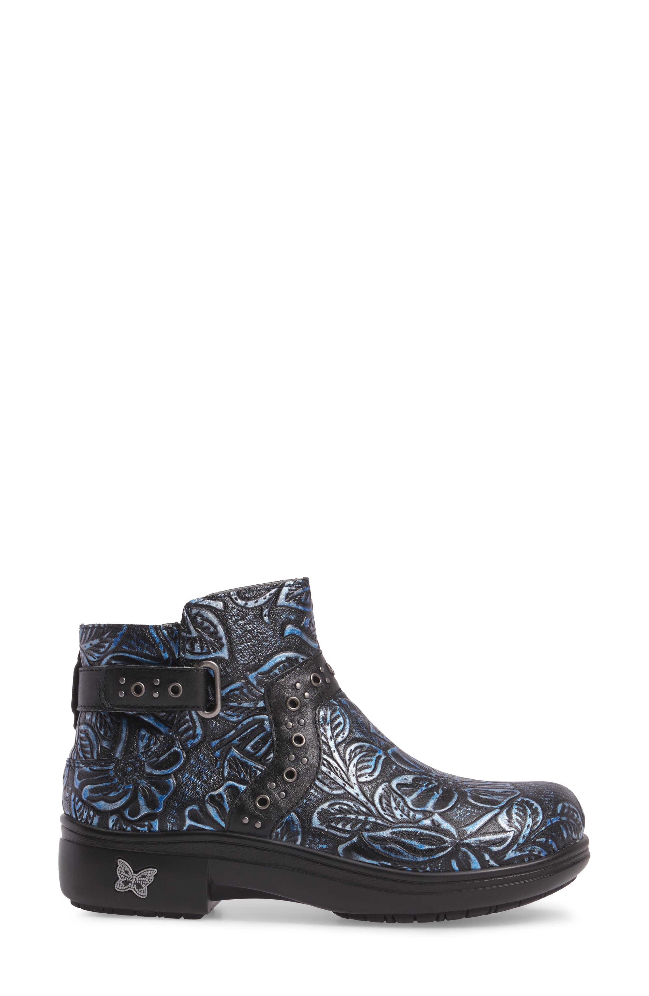 ALEGRIA, Zoey Ankle Boot, Alternate thumbnail 3, color, BLUE ROMANCE LEATHER
